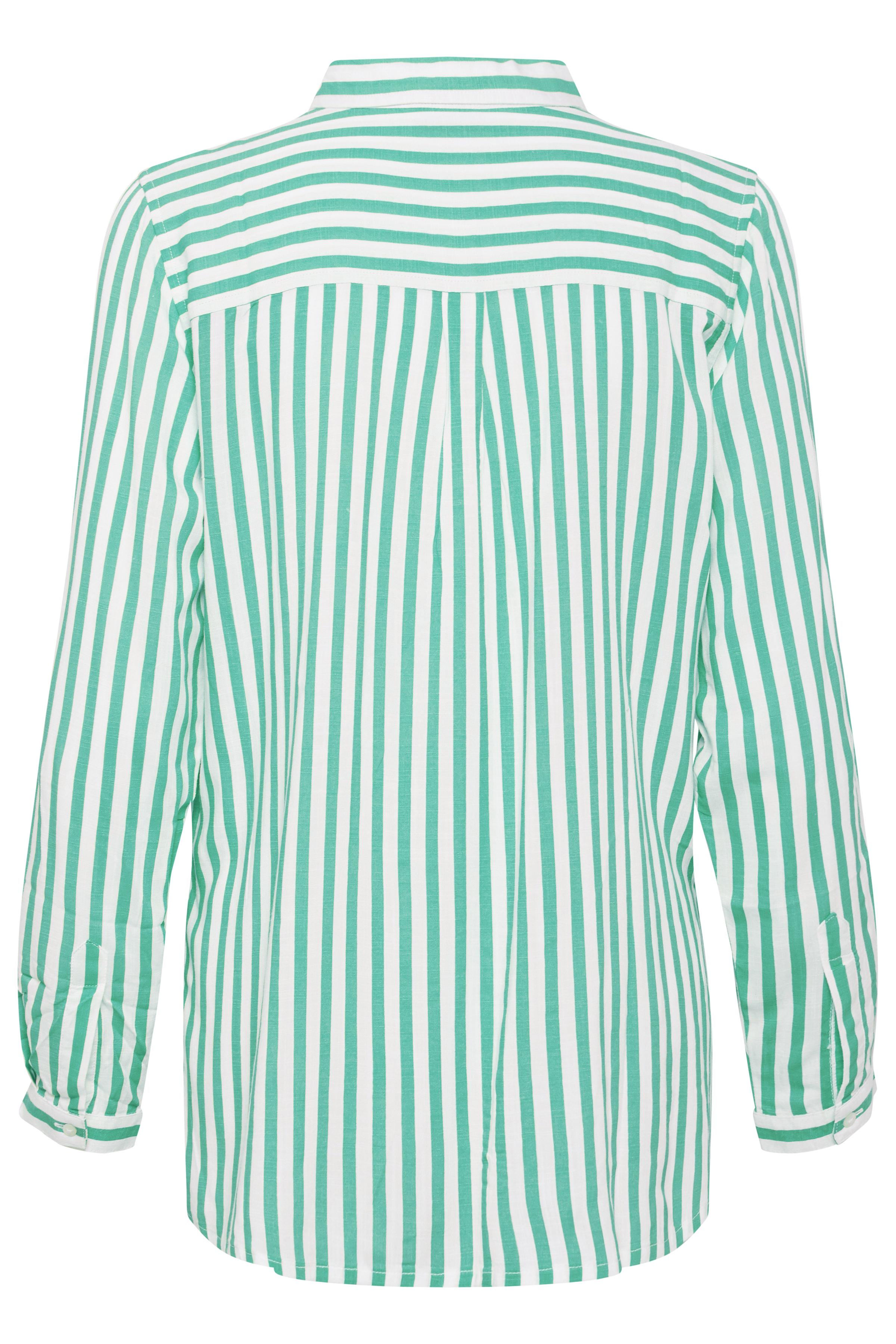 Fresh Green combi Overhemd met lang mouwen van b.young – Koop Fresh Green combi Overhemd met lang mouwen hier van size 34-44