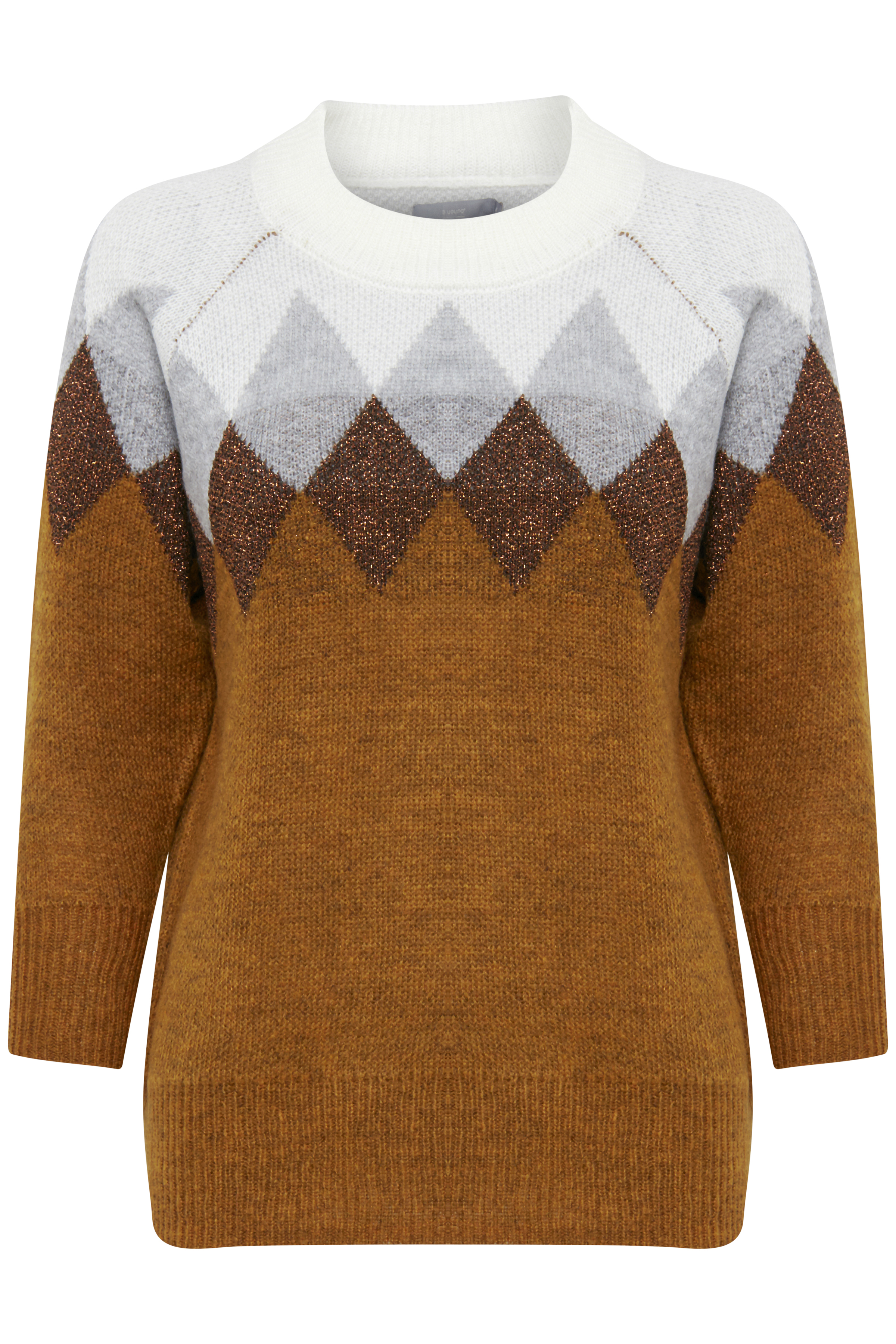 Golden Toffee Combi Strikpullover fra b.young – Køb Golden Toffee Combi Strikpullover fra str. XS-XXL her