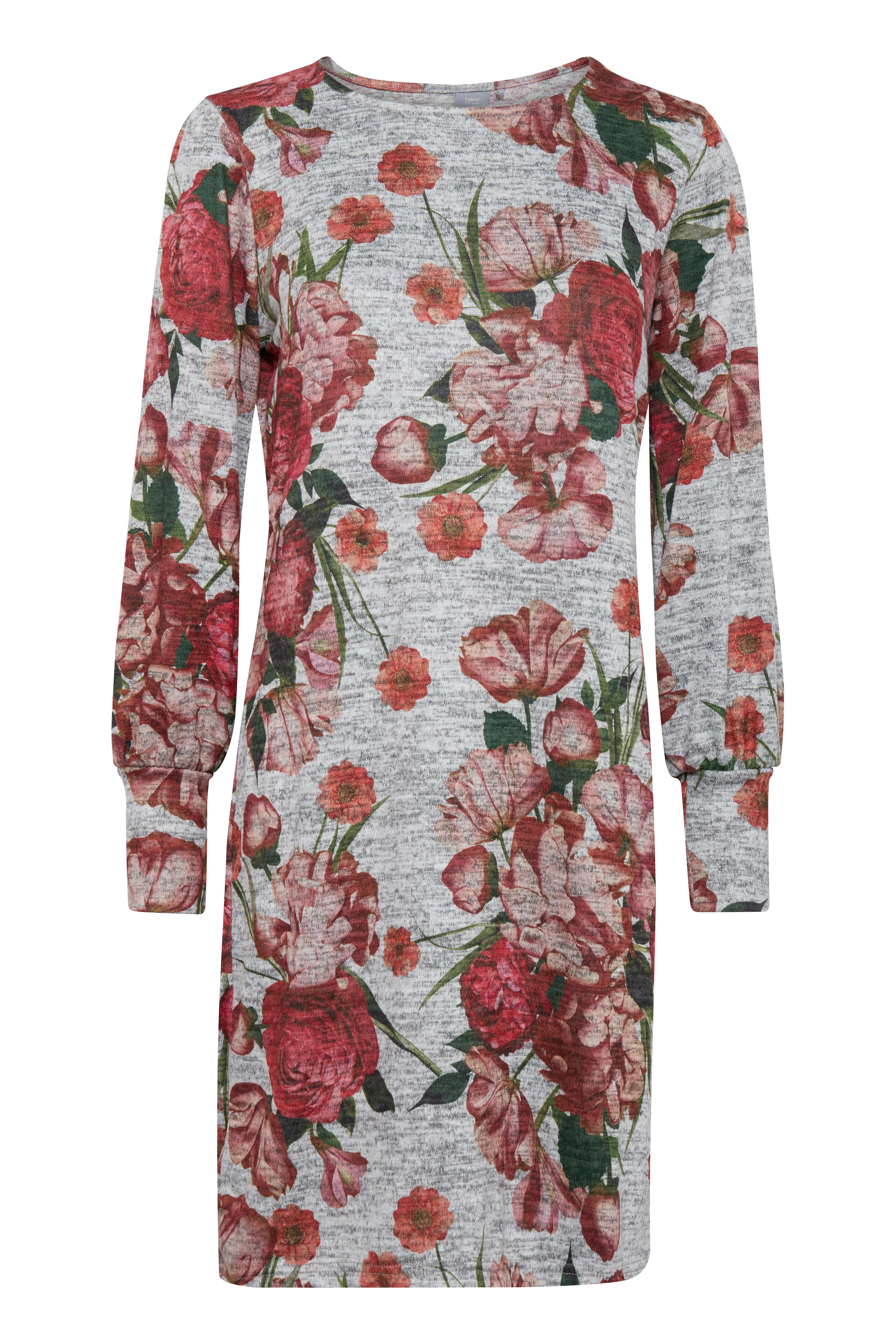 Gråmelerad/röd Jerseyklänning från b.young – Köp Gråmelerad/röd Jerseyklänning från storlek XS-XXL här