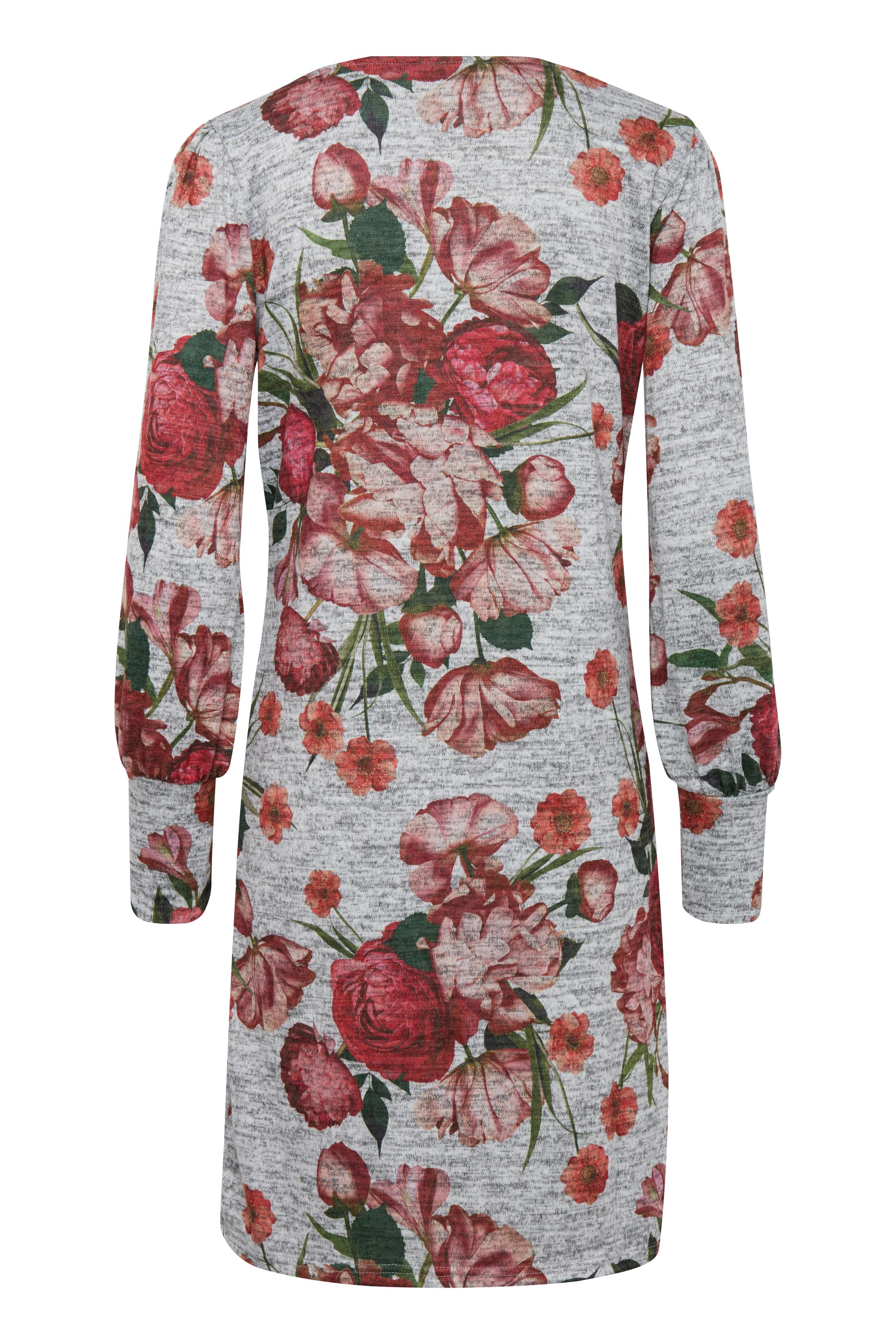 Grau meliert/rot Jerseykleid von b.young – Kaufen Sie Grau meliert/rot Jerseykleid aus Größe XS-XXL hier