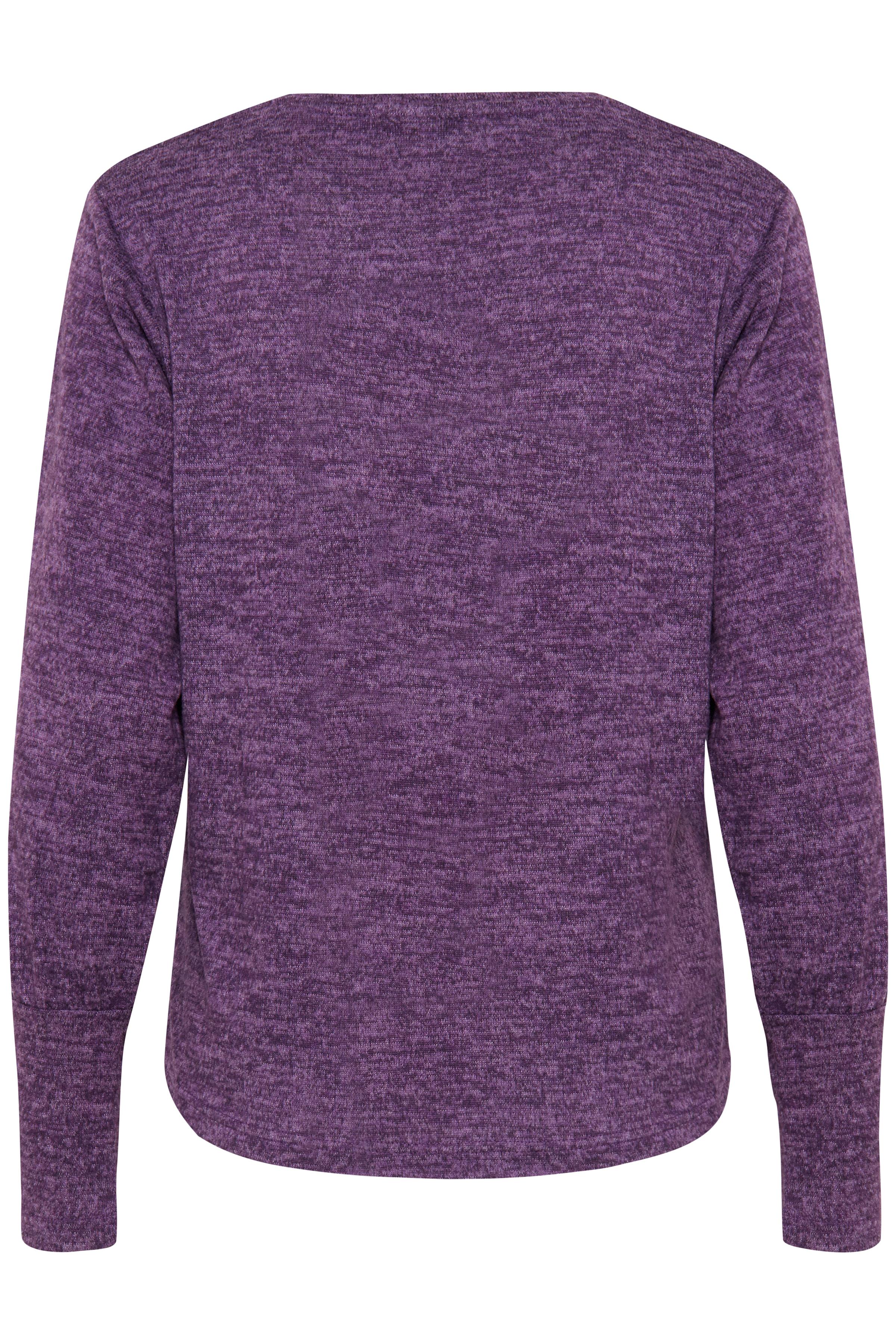 Imperial Purple Mel. Langærmet T-shirt fra b.young – Køb Imperial Purple Mel. Langærmet T-shirt fra str. XS-XXL her