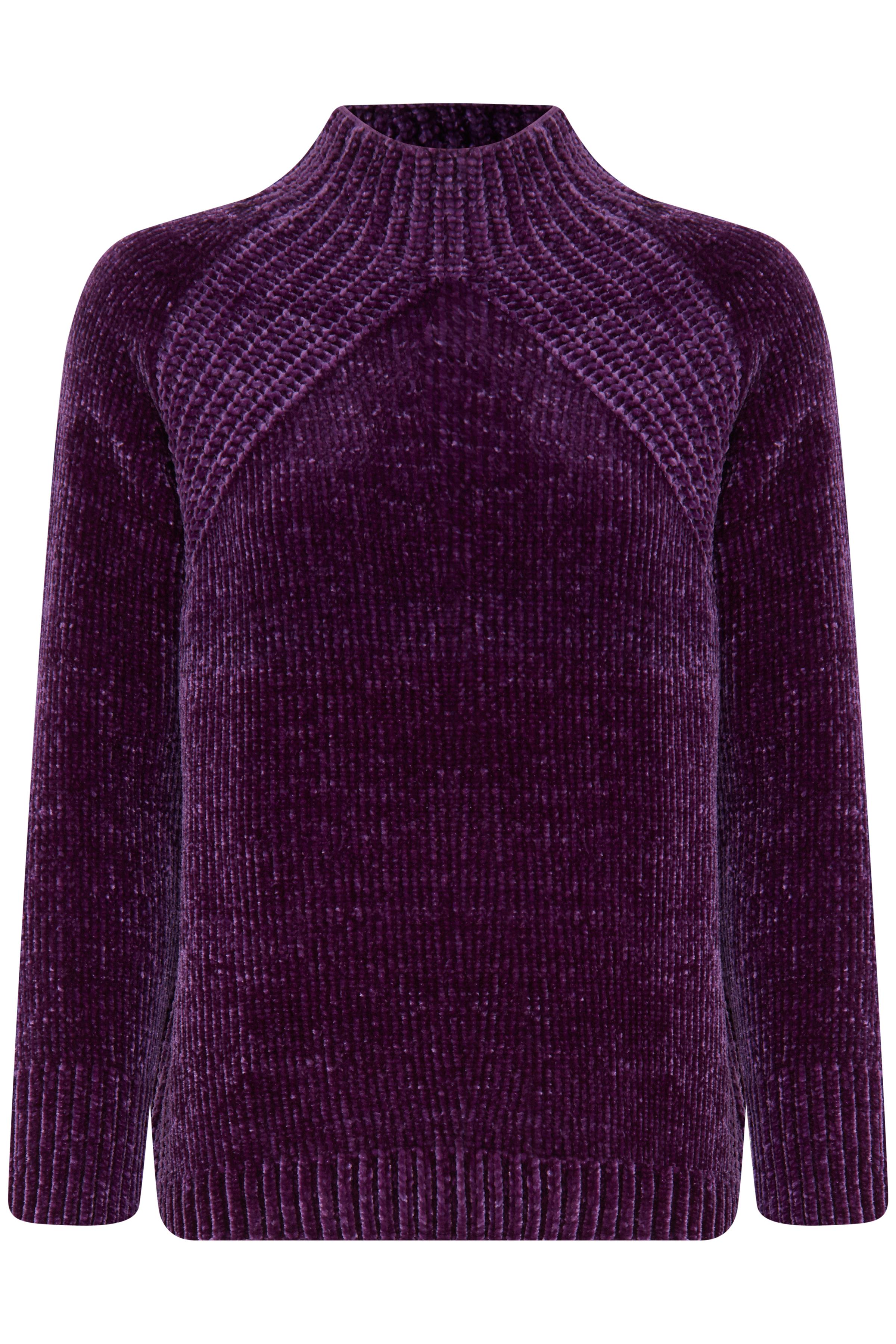 Imperial Purple Strikpullover fra b.young – Køb Imperial Purple Strikpullover fra str. S-XXL her