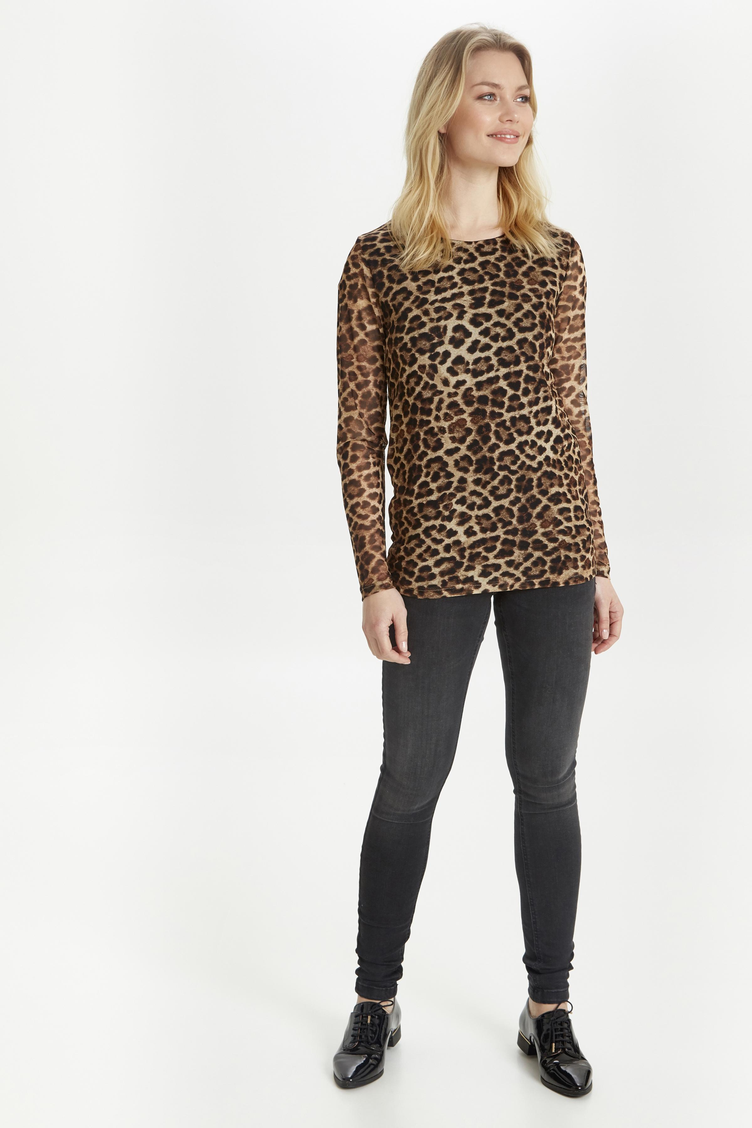 Leopard combi 2 Langarm-Bluse von b.young – Kaufen Sie Leopard combi 2 Langarm-Bluse aus Größe S-XXL hier