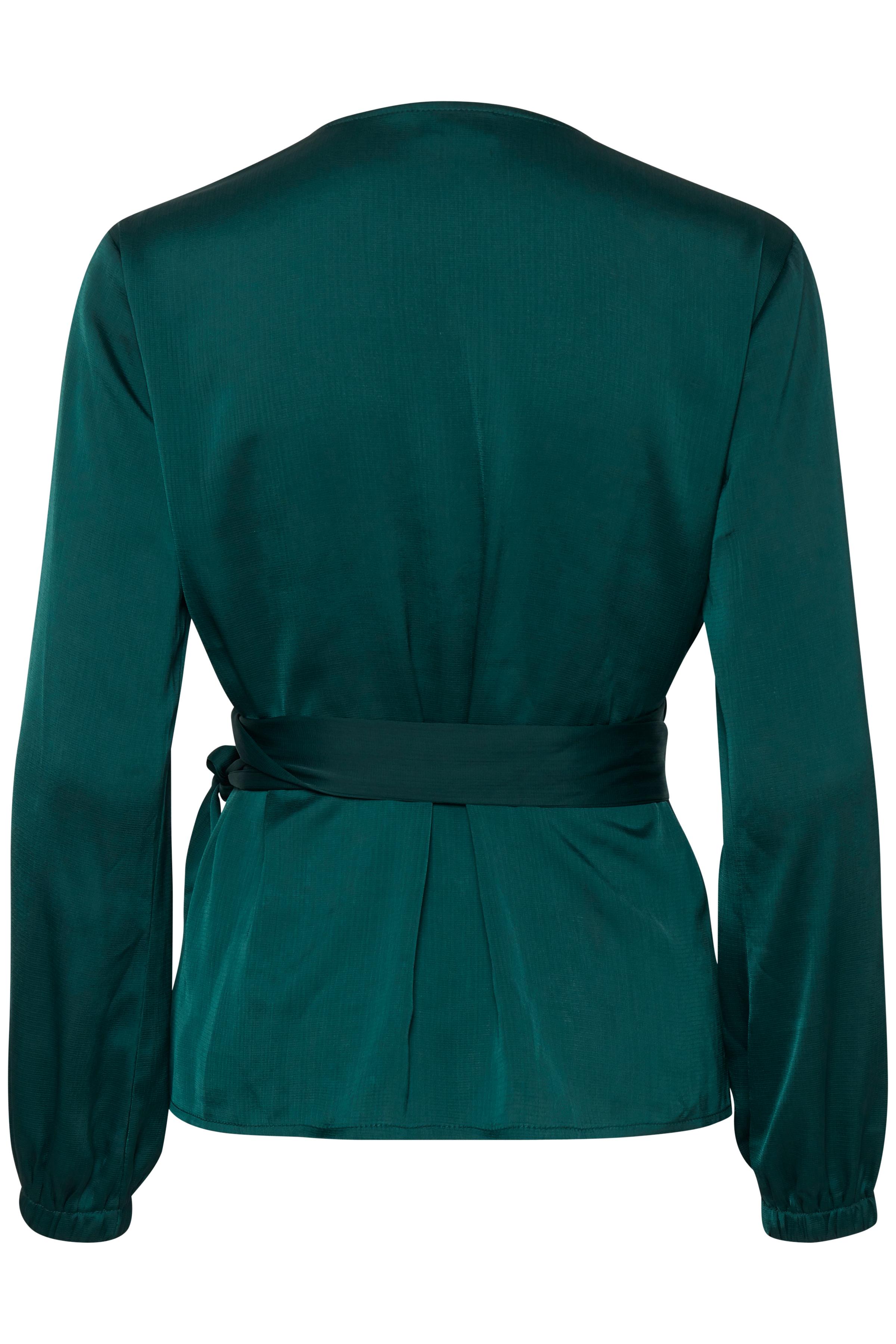 Majestic Green Langærmet bluse fra b.young – Køb Majestic Green Langærmet bluse fra str. 34-42 her
