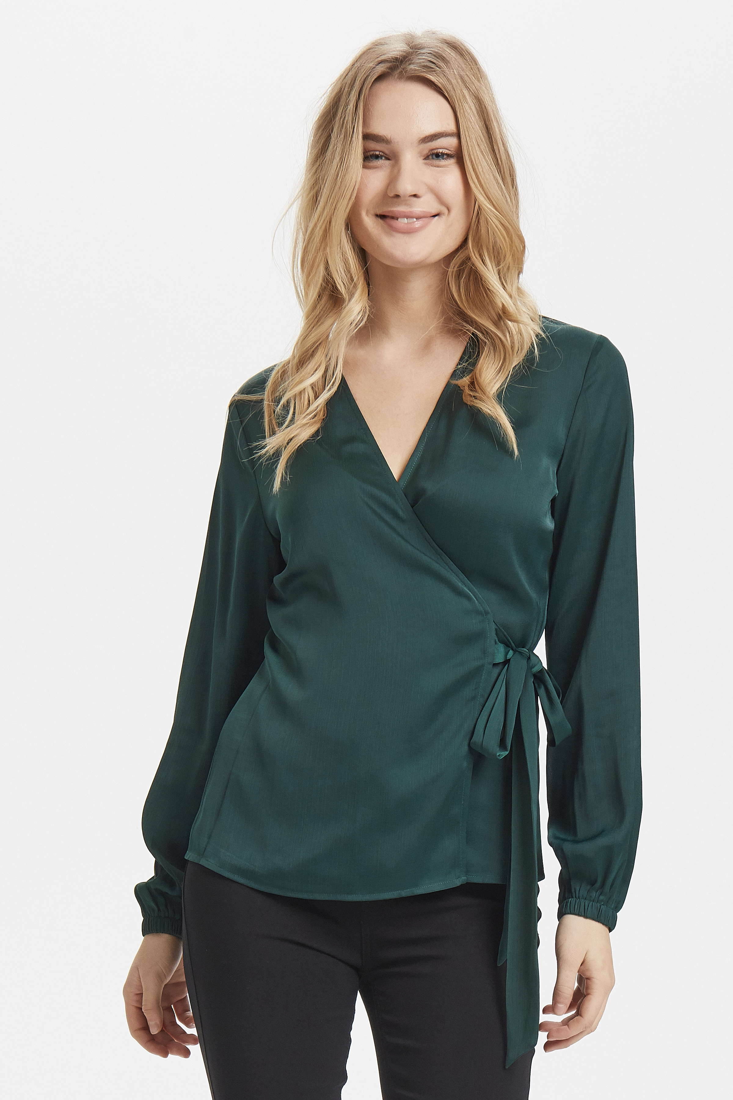 Majestic Green Langarm-Bluse von b.young – Kaufen Sie Majestic Green Langarm-Bluse aus Größe 34-42 hier