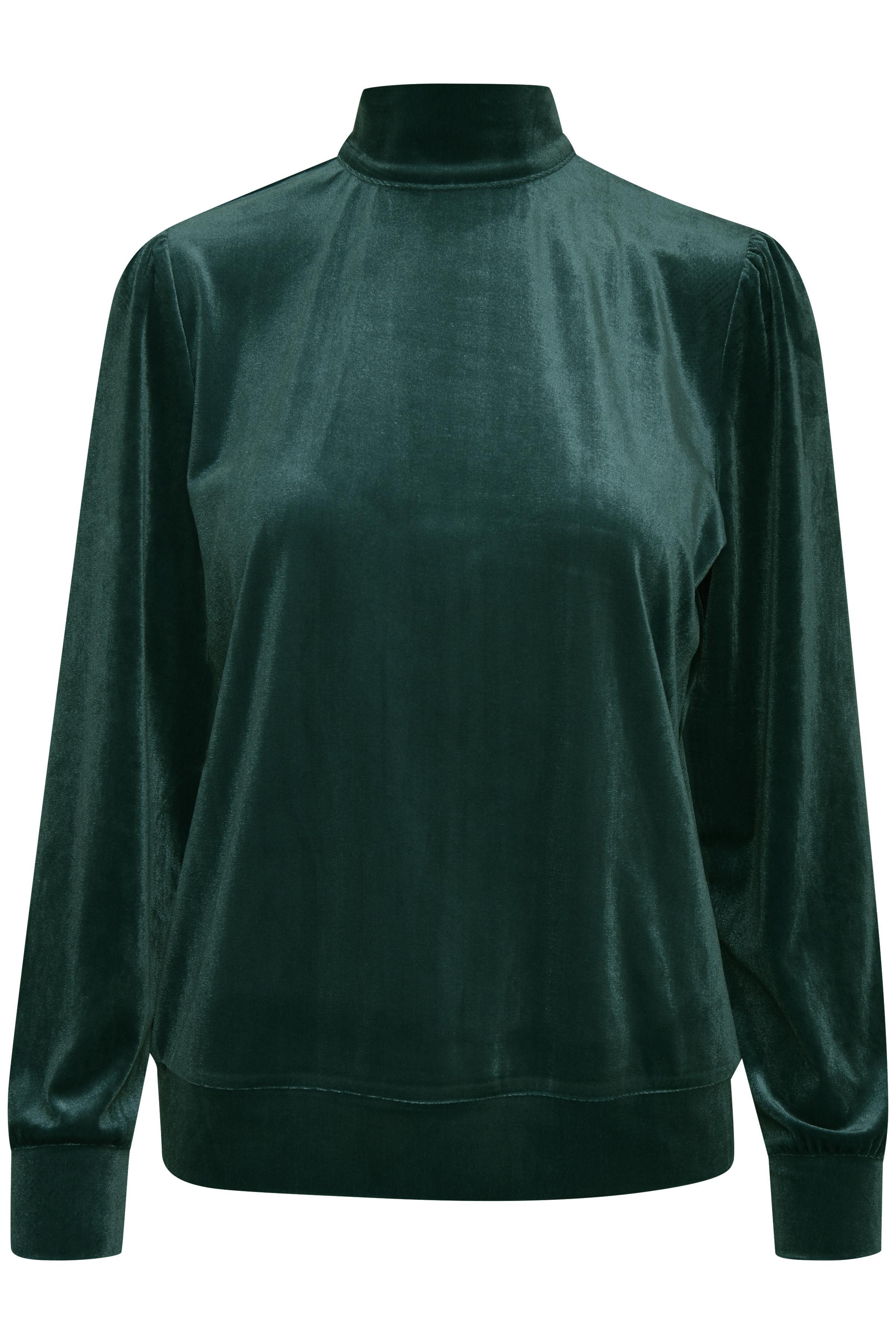 Majestic Green Strikpullover fra b.young – Køb Majestic Green Strikpullover fra str. XS-XL her