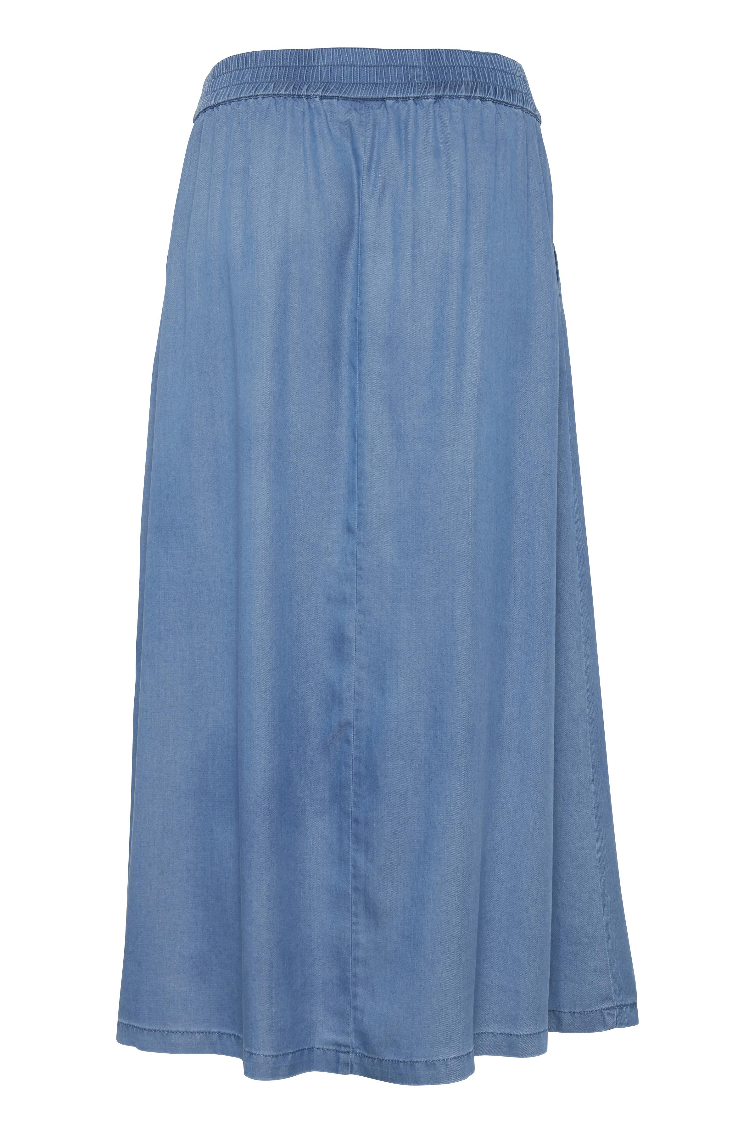Med. Blue Denim Nederdel fra b.young – Køb Med. Blue Denim Nederdel fra str. 34-44 her