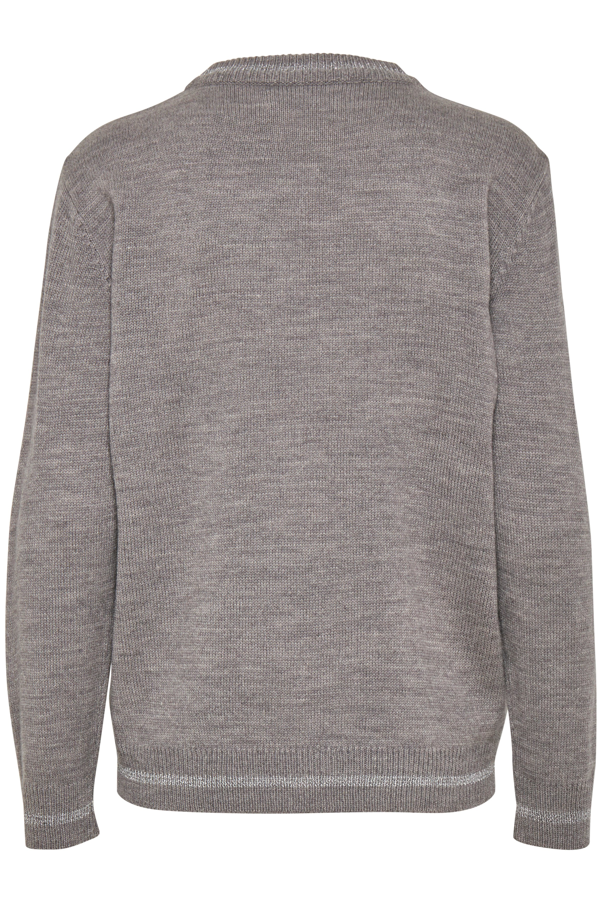 Med. Grey Mel. Combi 2 Knitted pullover from b.young – Buy Med. Grey Mel. Combi 2 Knitted pullover from size XS-XXL here