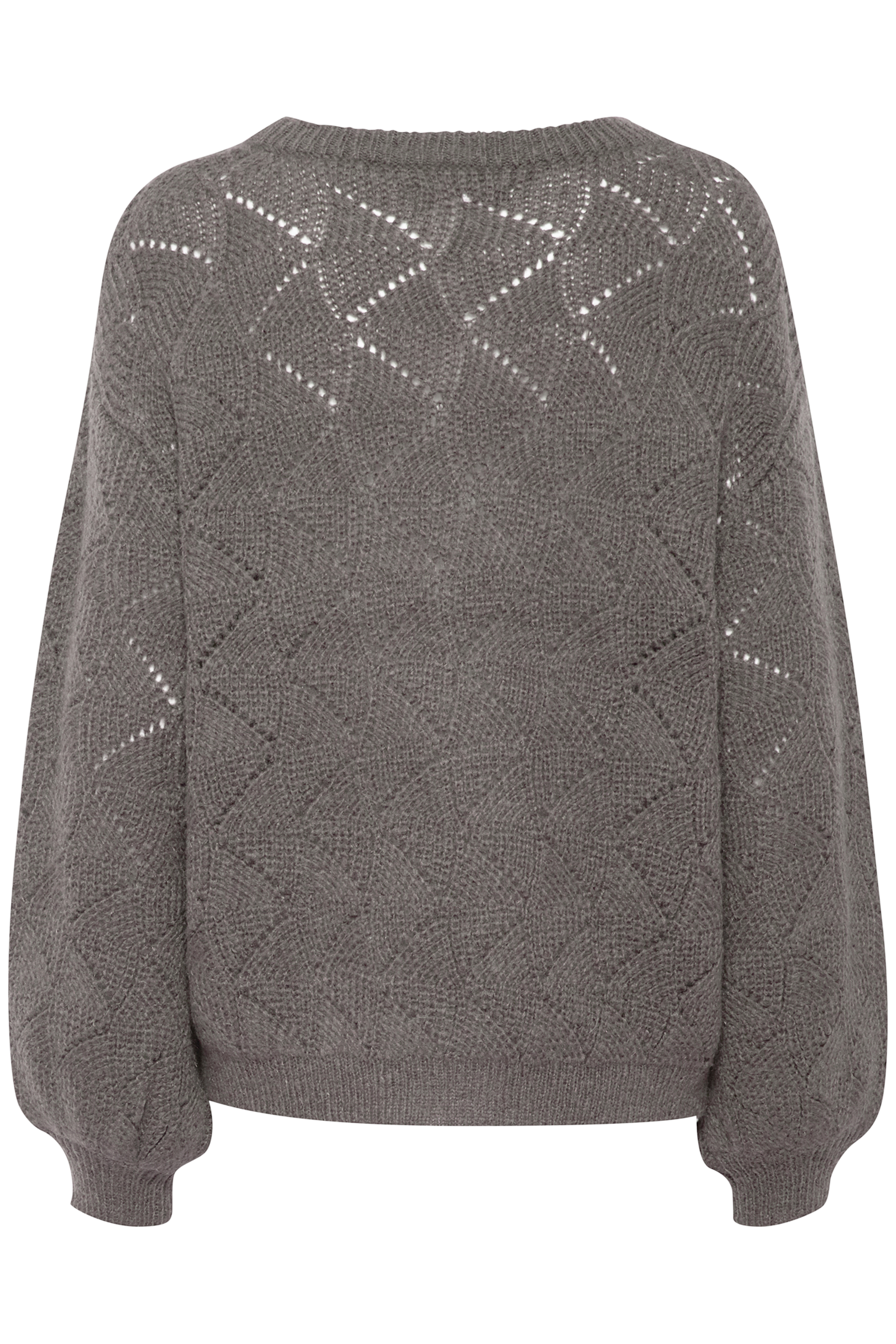 Med. Grey Mel. Knitted pullover from b.young – Buy Med. Grey Mel. Knitted pullover from size XS-XXL here