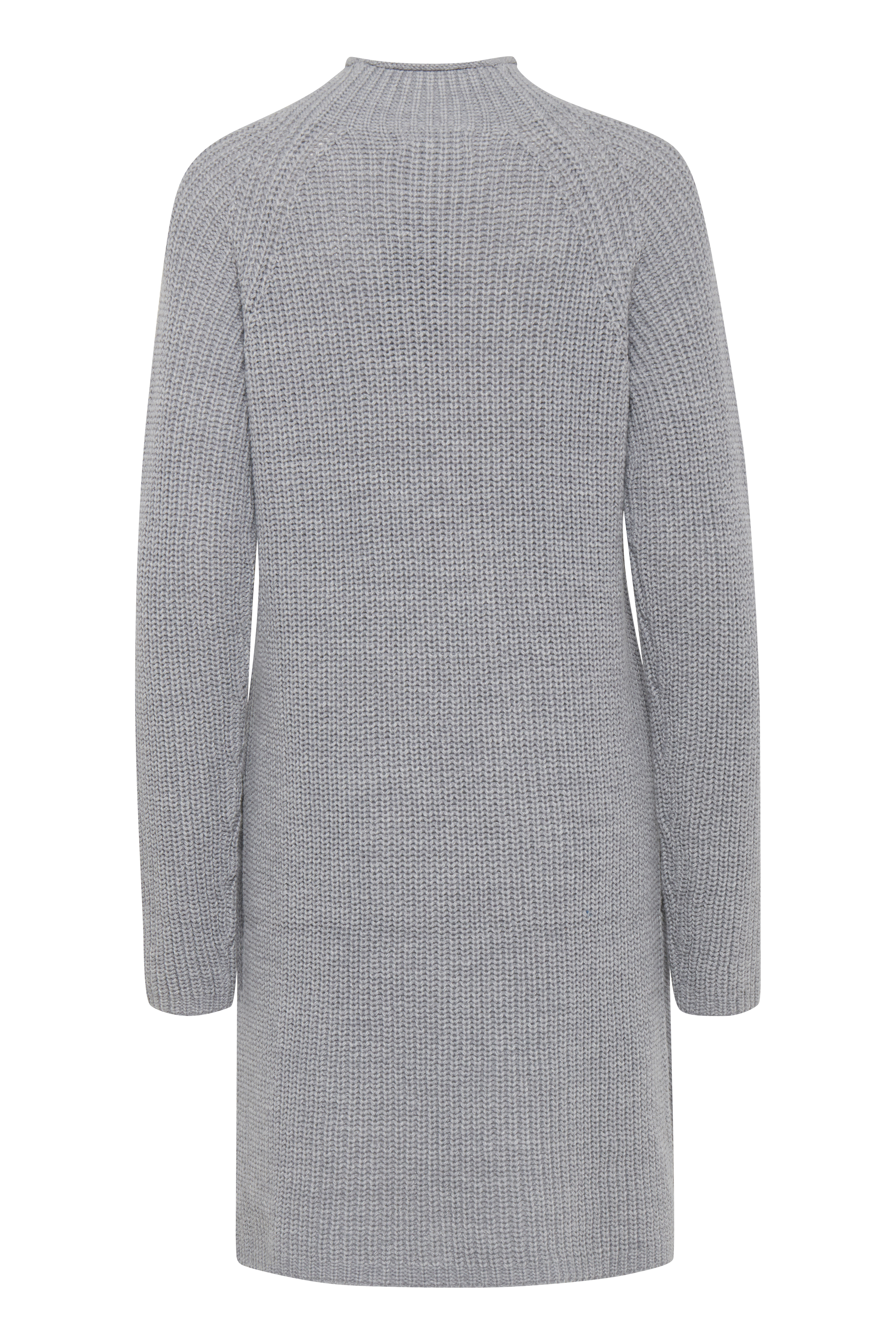 Med. Grey Mel. Knitted tunic from b.young – Buy Med. Grey Mel. Knitted tunic from size XS-XXL here