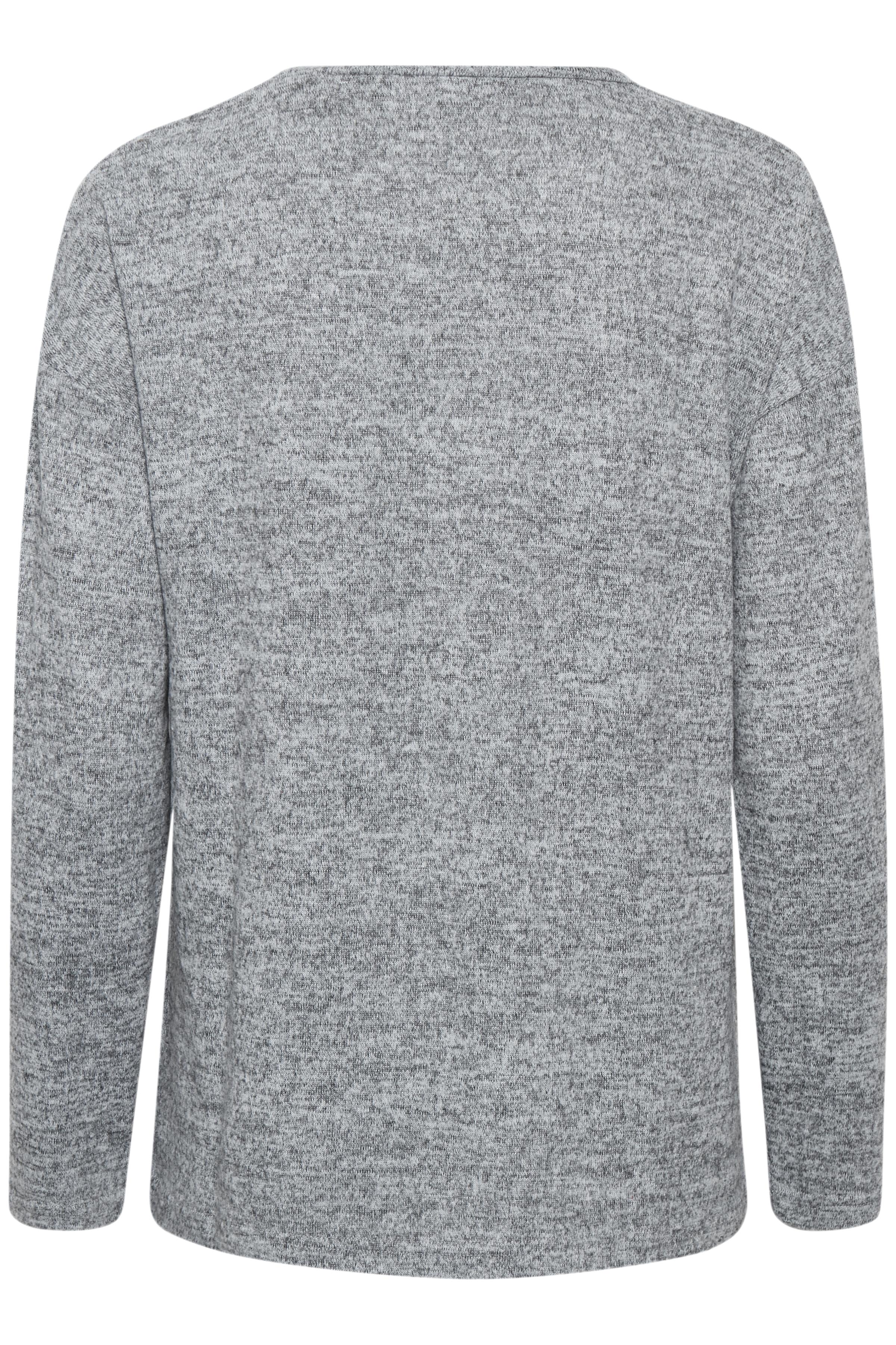 Med. Grey Mel. Langarm-Bluse von b.young – Kaufen Sie Med. Grey Mel. Langarm-Bluse aus Größe XS-XXL hier