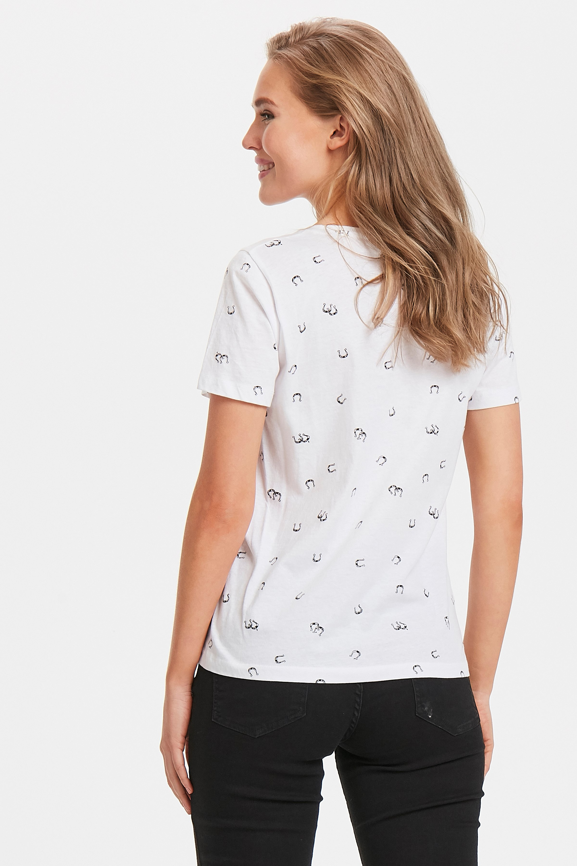 Off White combi T-shirt fra b.young – Køb Off White combi T-shirt fra str. XS-XXL her