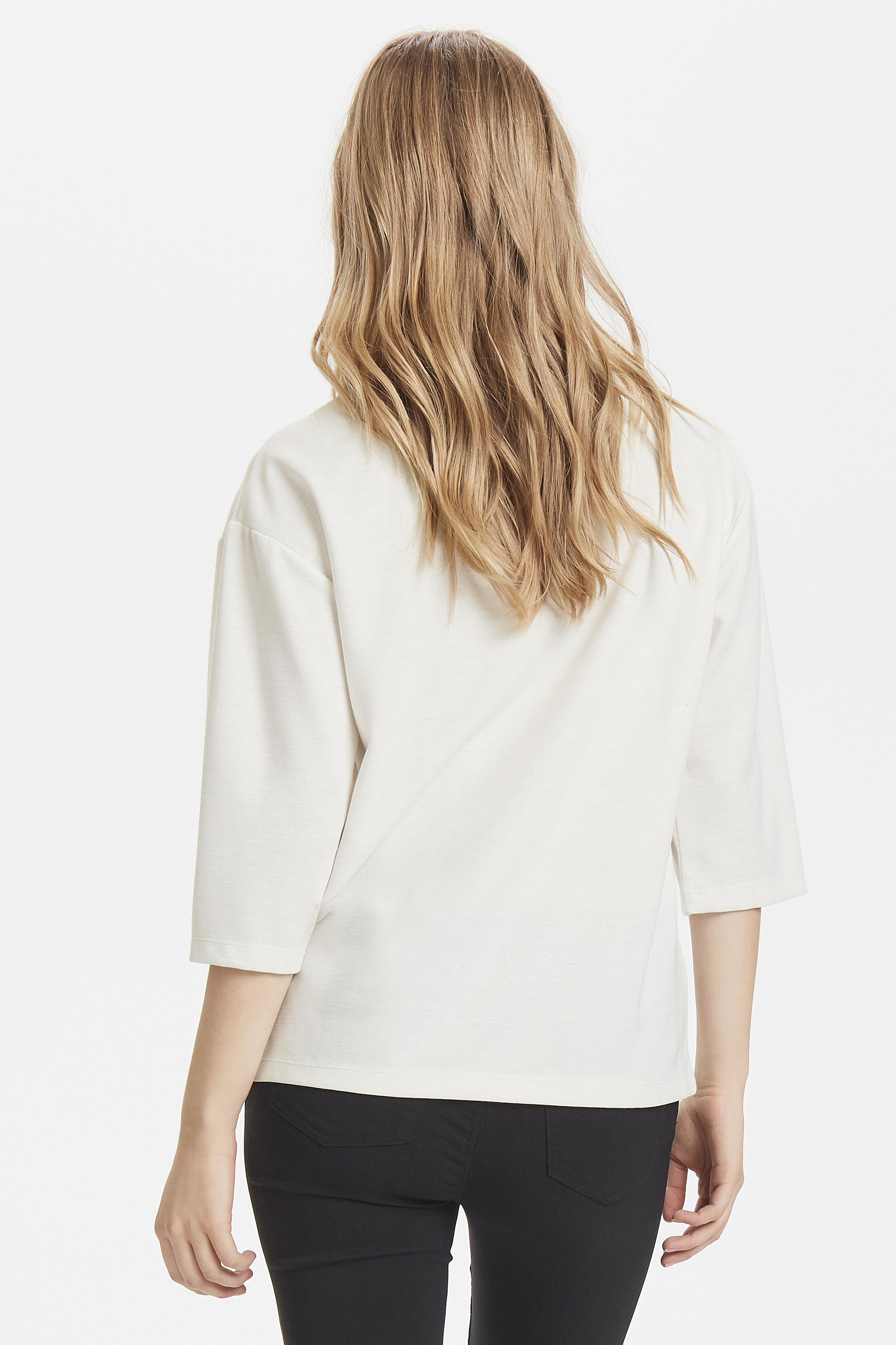 Off White Langærmet bluse fra b.young – Køb Off White Langærmet bluse fra str. XS-XL her