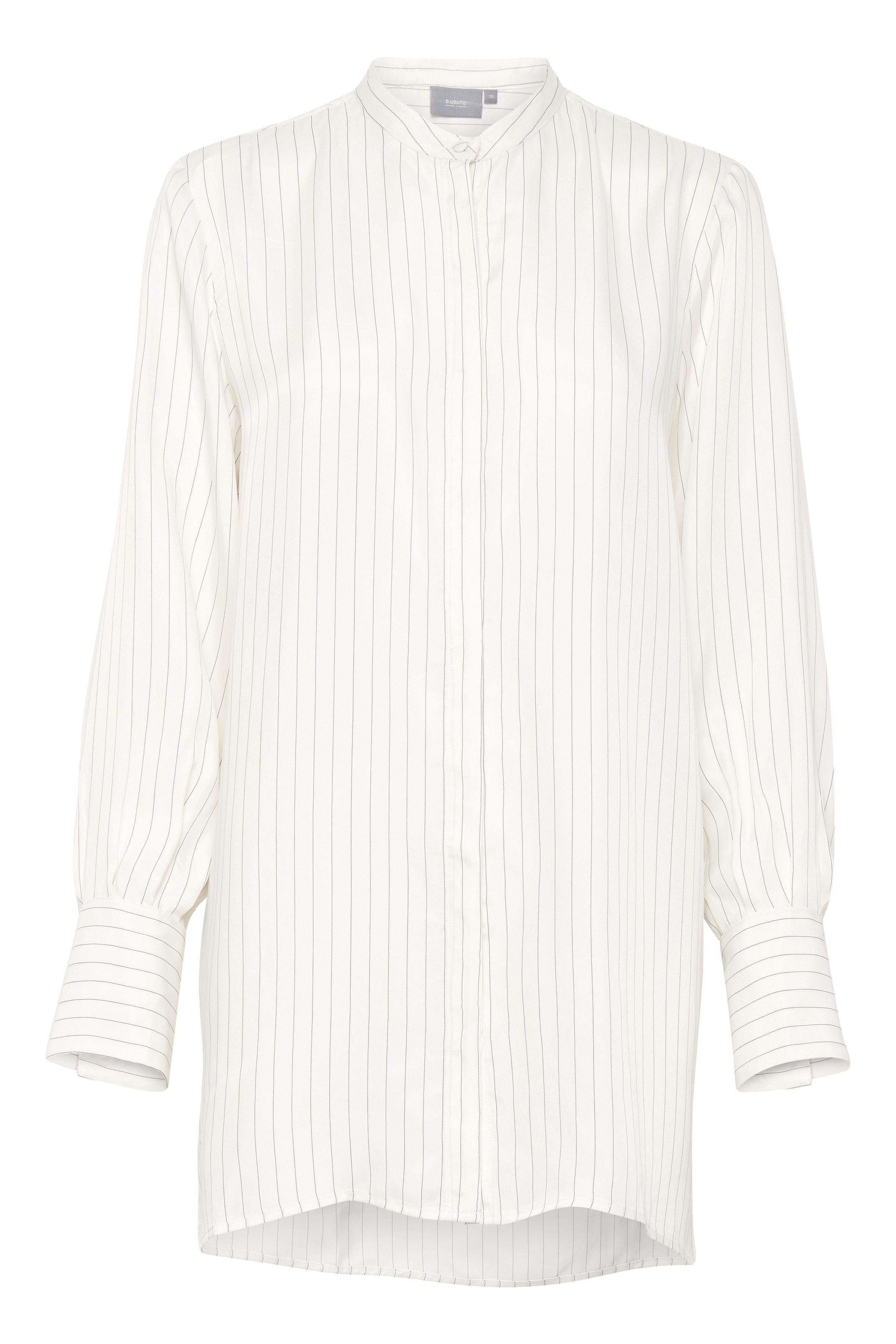 Off White Langærmet skjorte fra b.young – Køb Off White Langærmet skjorte fra str. 36-46 her
