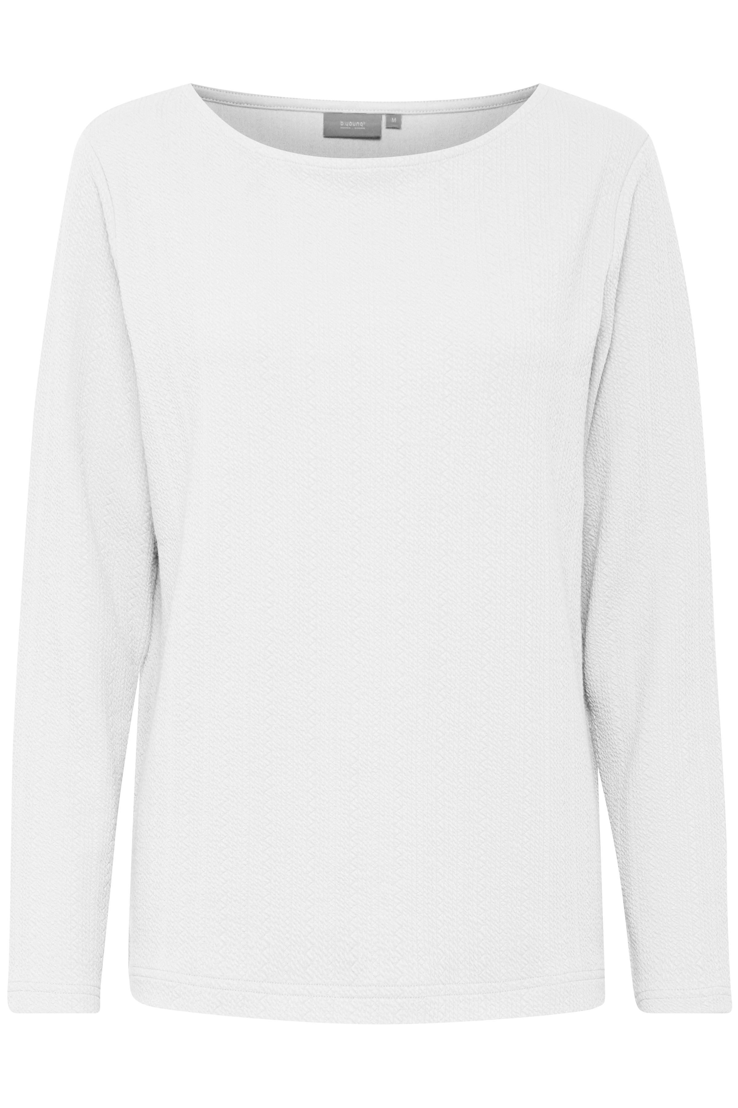 Off White Langærmet T-shirt fra b.young – Køb Off White Langærmet T-shirt fra str. S-XXL her
