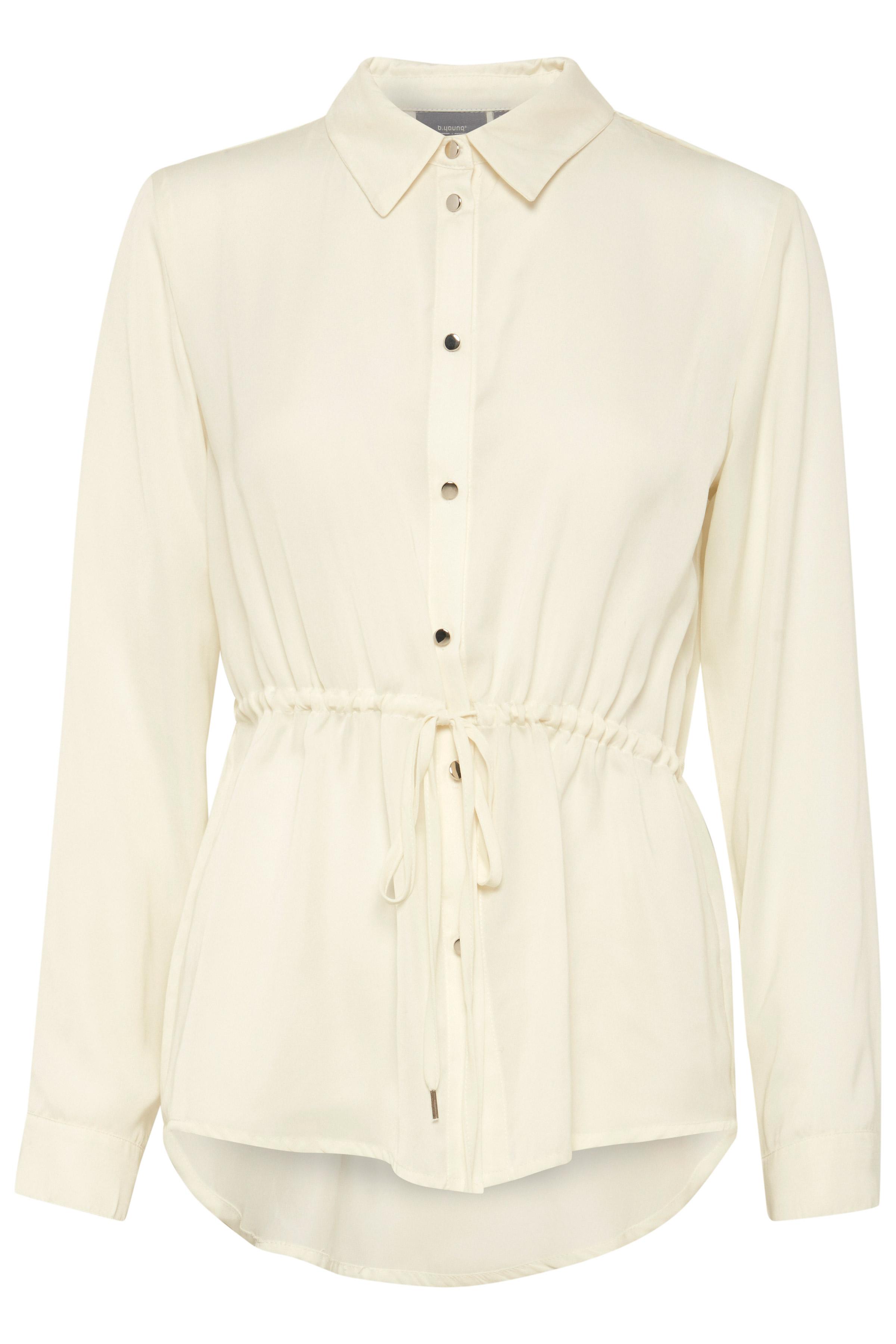 Off White Overhemd met lang mouwen van b.young – Koop Off White Overhemd met lang mouwen hier van size 36-46