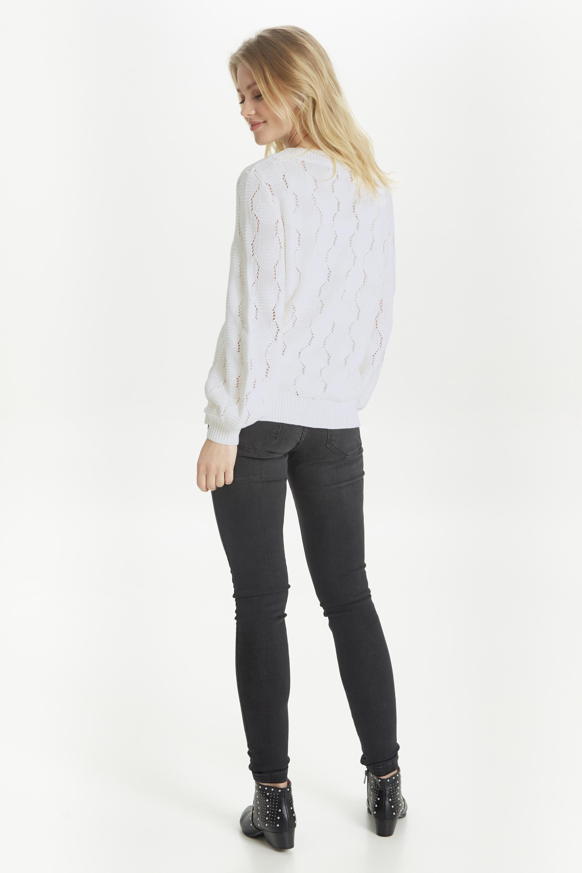 Off White Strikpullover fra b.young – Køb Off White Strikpullover fra str. XS-XXL her