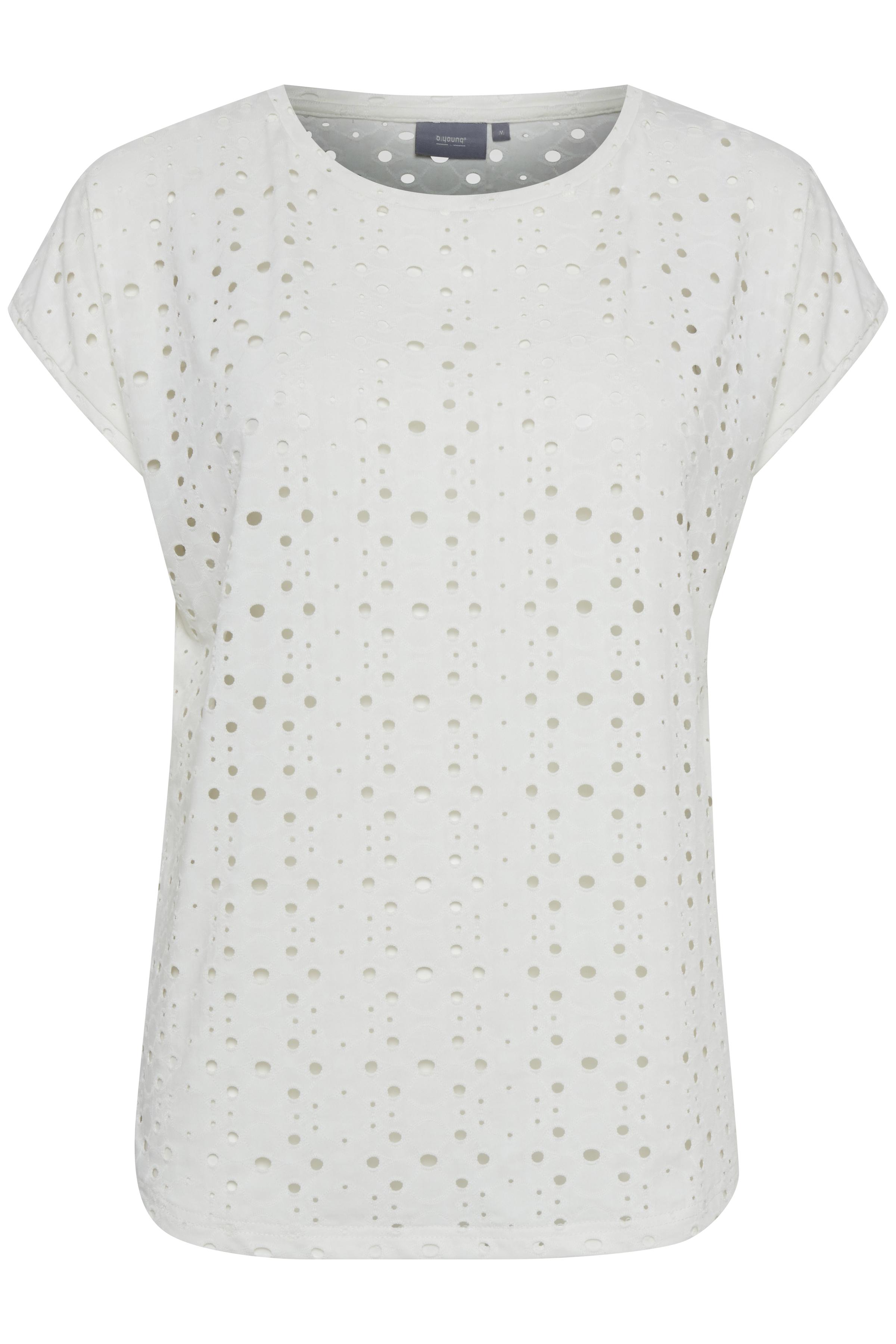 Off White T-shirt fra b.young – Køb Off White T-shirt fra str. XS-XXL her