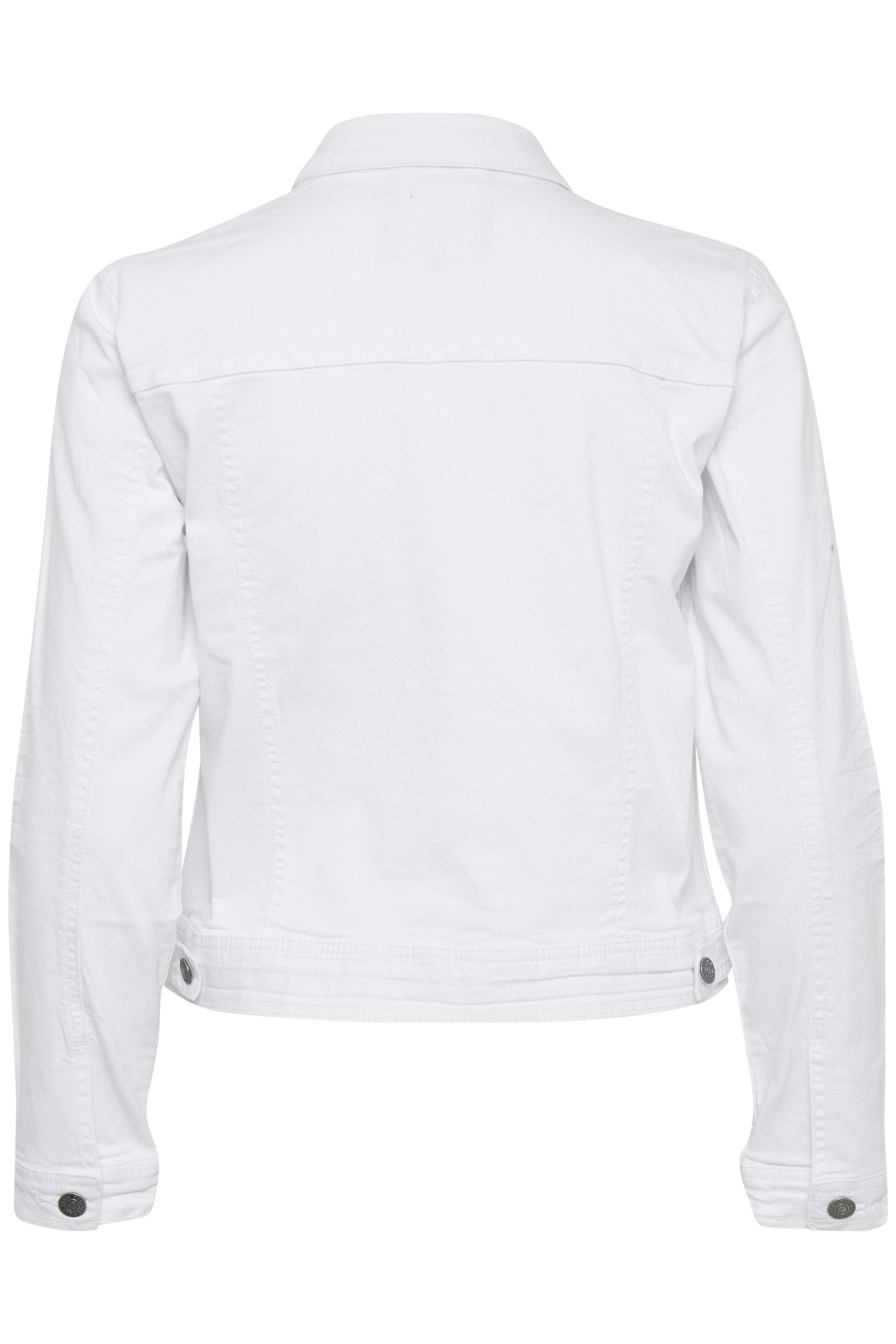 Optical White Denimjakke fra b.young – Køb Optical White Denimjakke fra str. 34-46 her