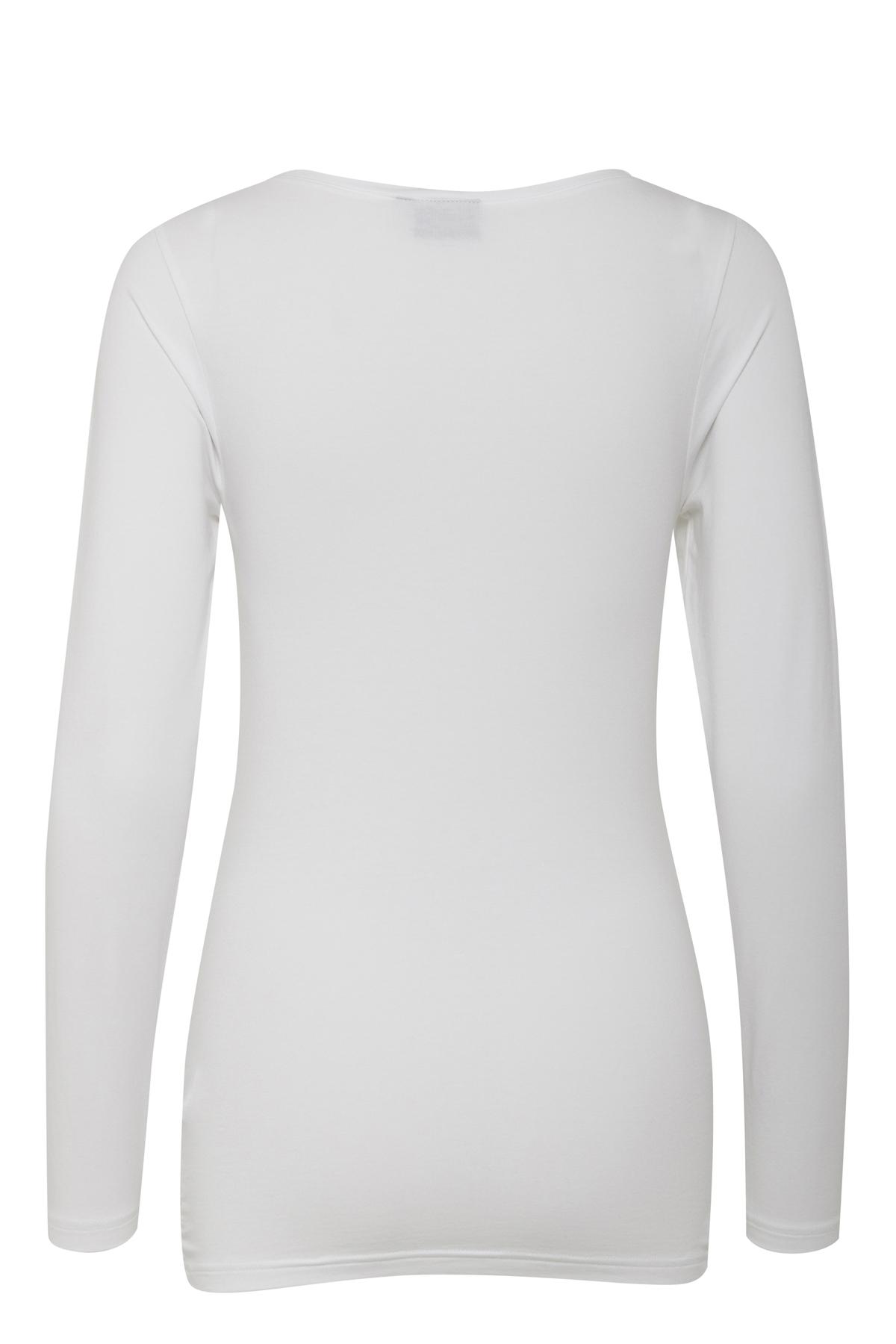 Optical White Langarm-Shirt von b.young – Kaufen Sie Optical White Langarm-Shirt aus Größe XS-XXL hier