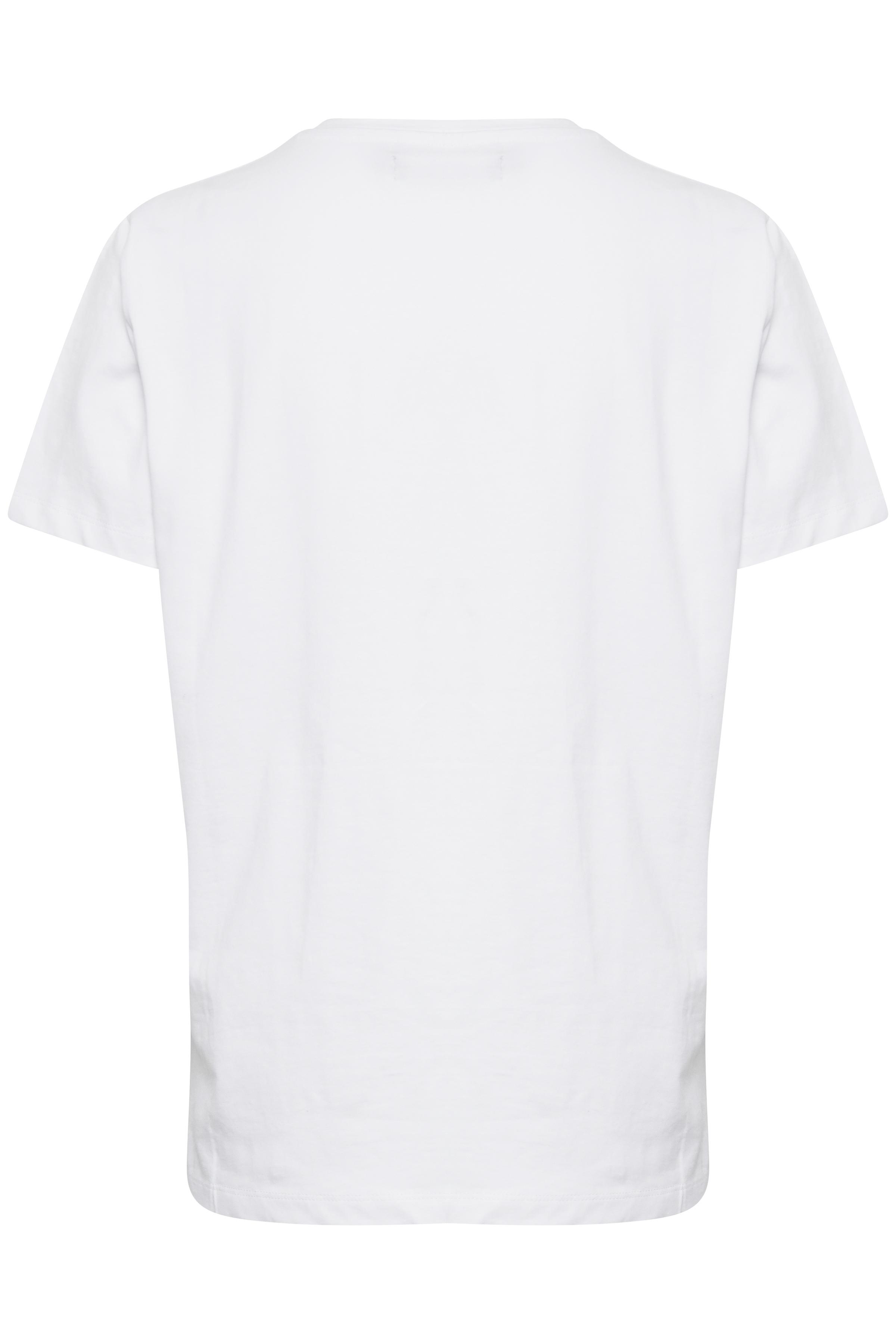 Optical White T-shirt fra b.young – Køb Optical White T-shirt fra str. XS-XXL her