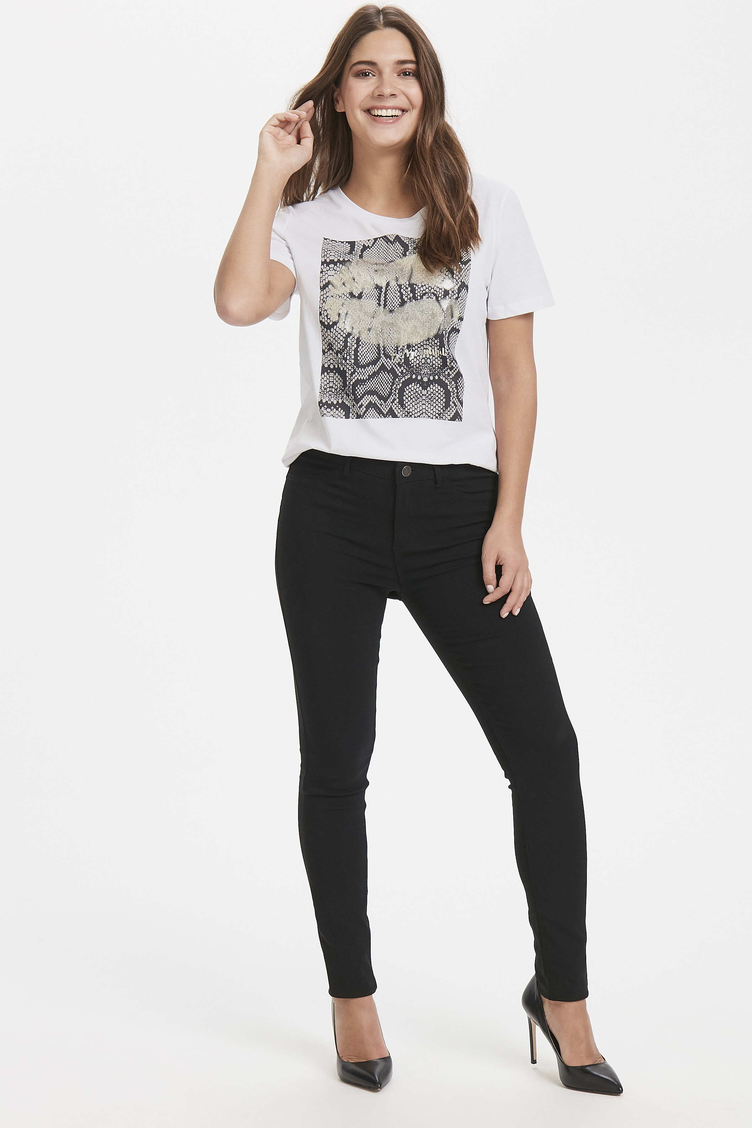 Optical White T-shirt from b.young – Buy Optical White T-shirt from size XS-XL here