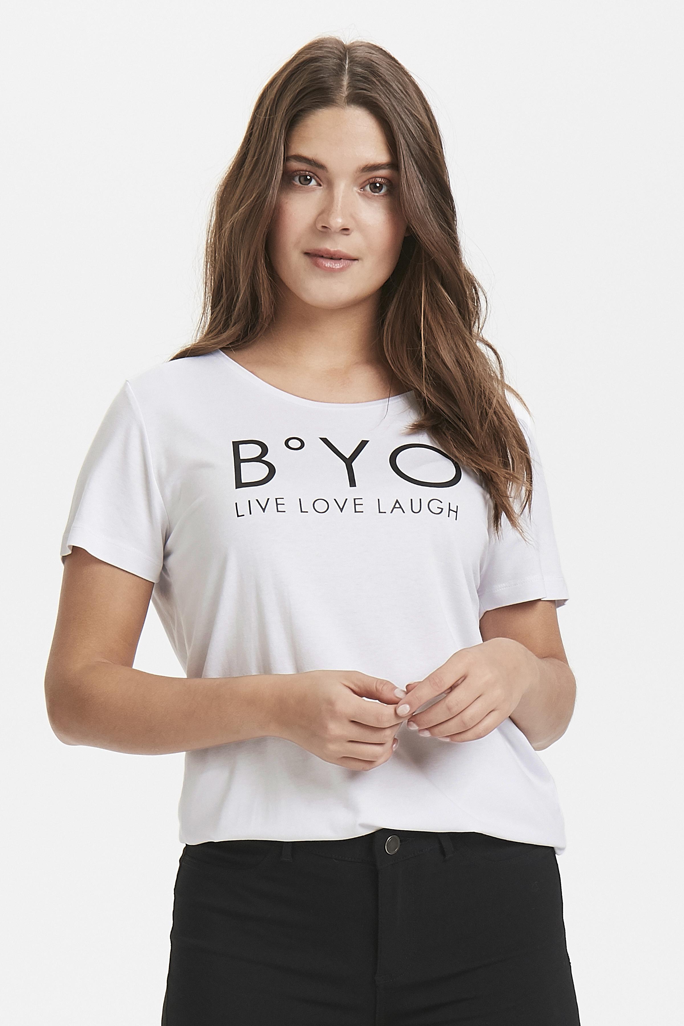 Optical White T-shirt von b.young – Kaufen Sie Optical White T-shirt aus Größe XS-XL hier