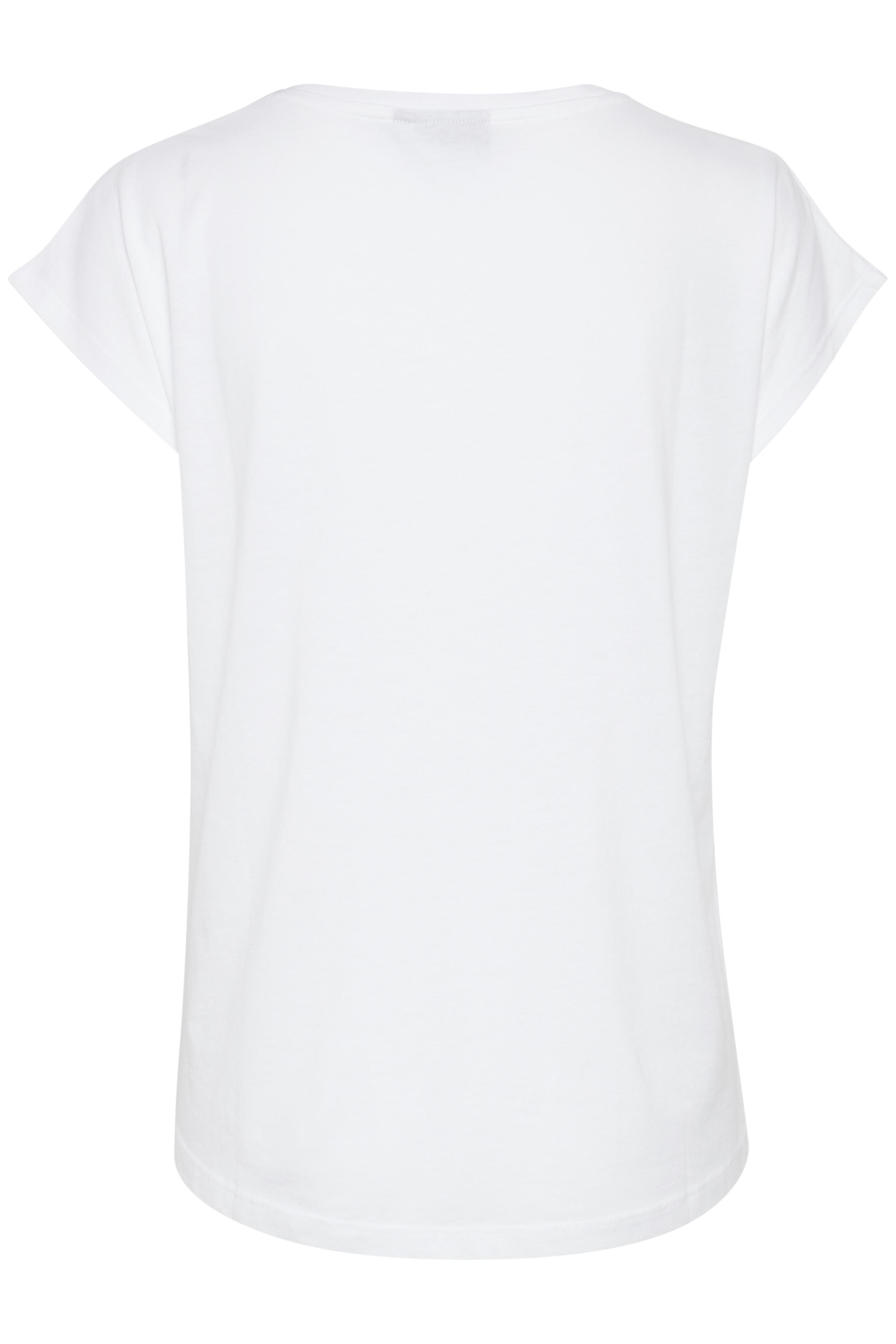 Optical White T-shirt van b.young – Koop Optical White T-shirt hier van size XS-XXL