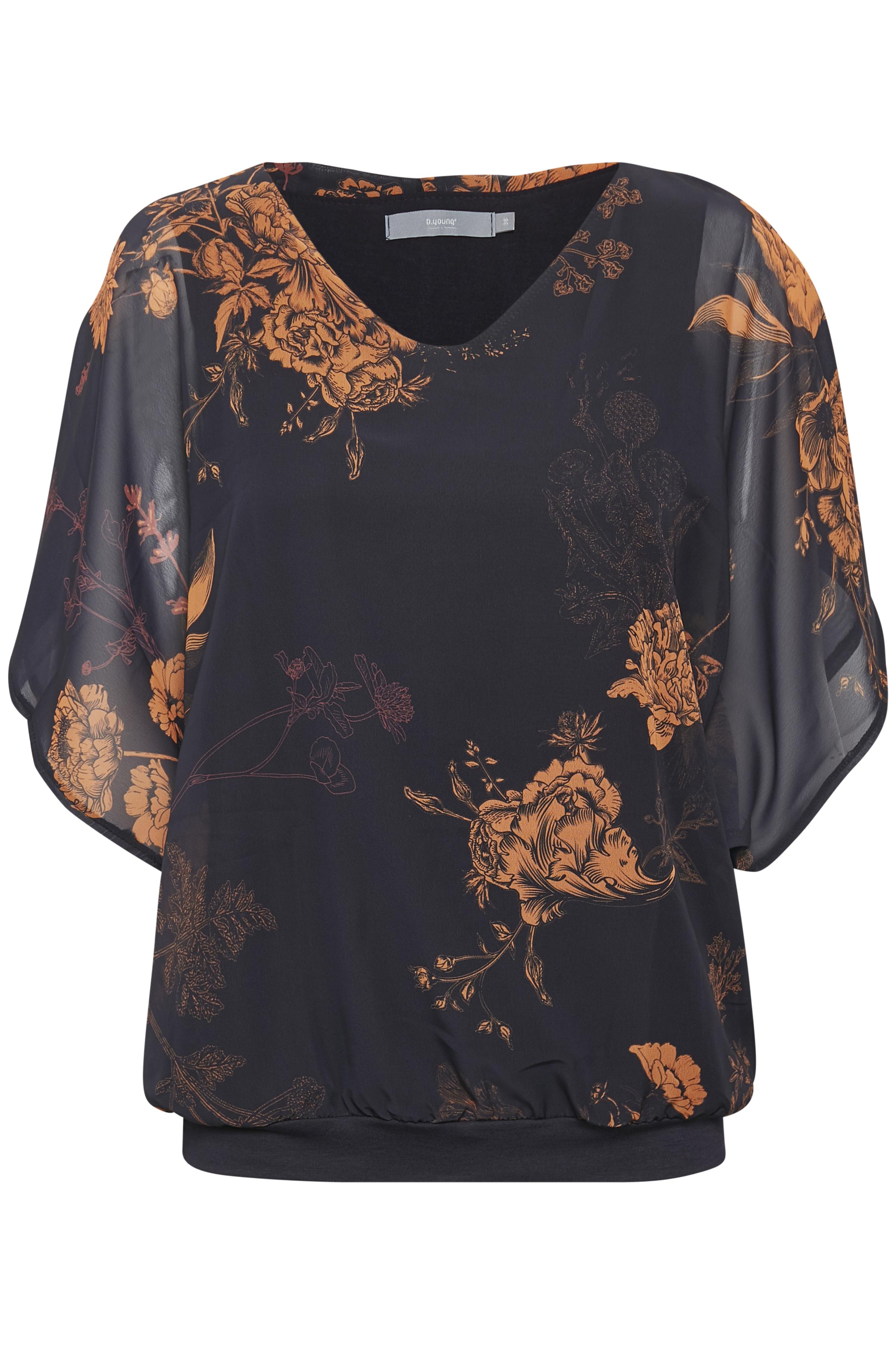 Orange flower combi 2 Kortærmet bluse fra b.young – Køb Orange flower combi 2 Kortærmet bluse fra str. 36-44 her