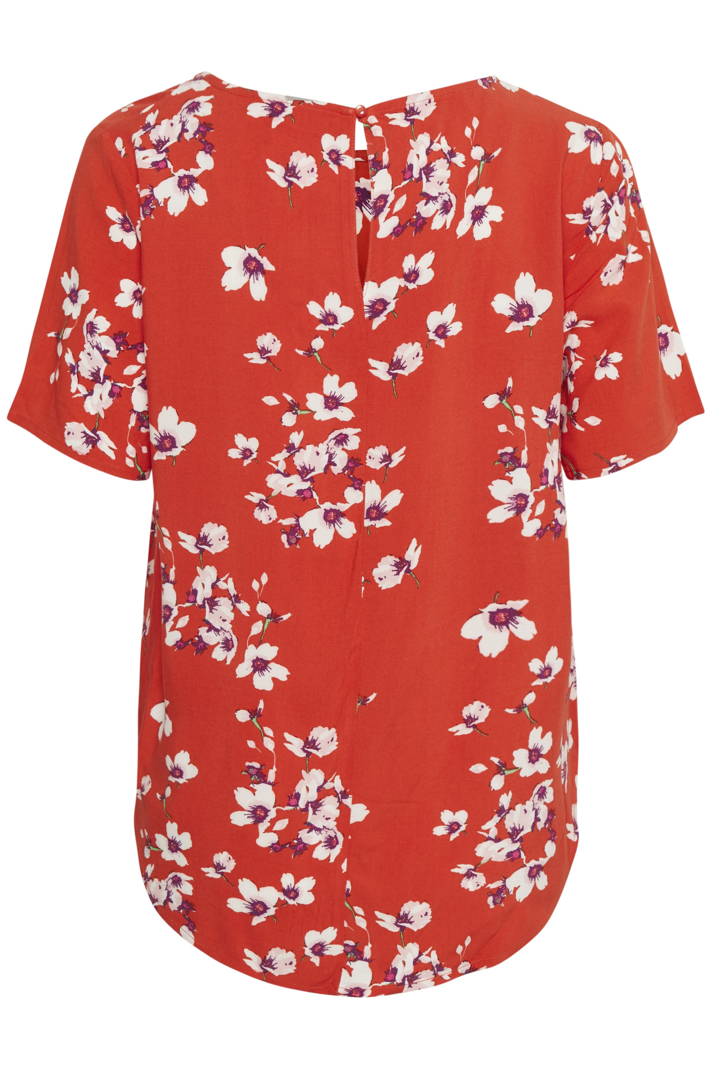 Red flower combi 10 Kortærmet bluse fra b.young – Køb Red flower combi 10 Kortærmet bluse fra str. 34-46 her