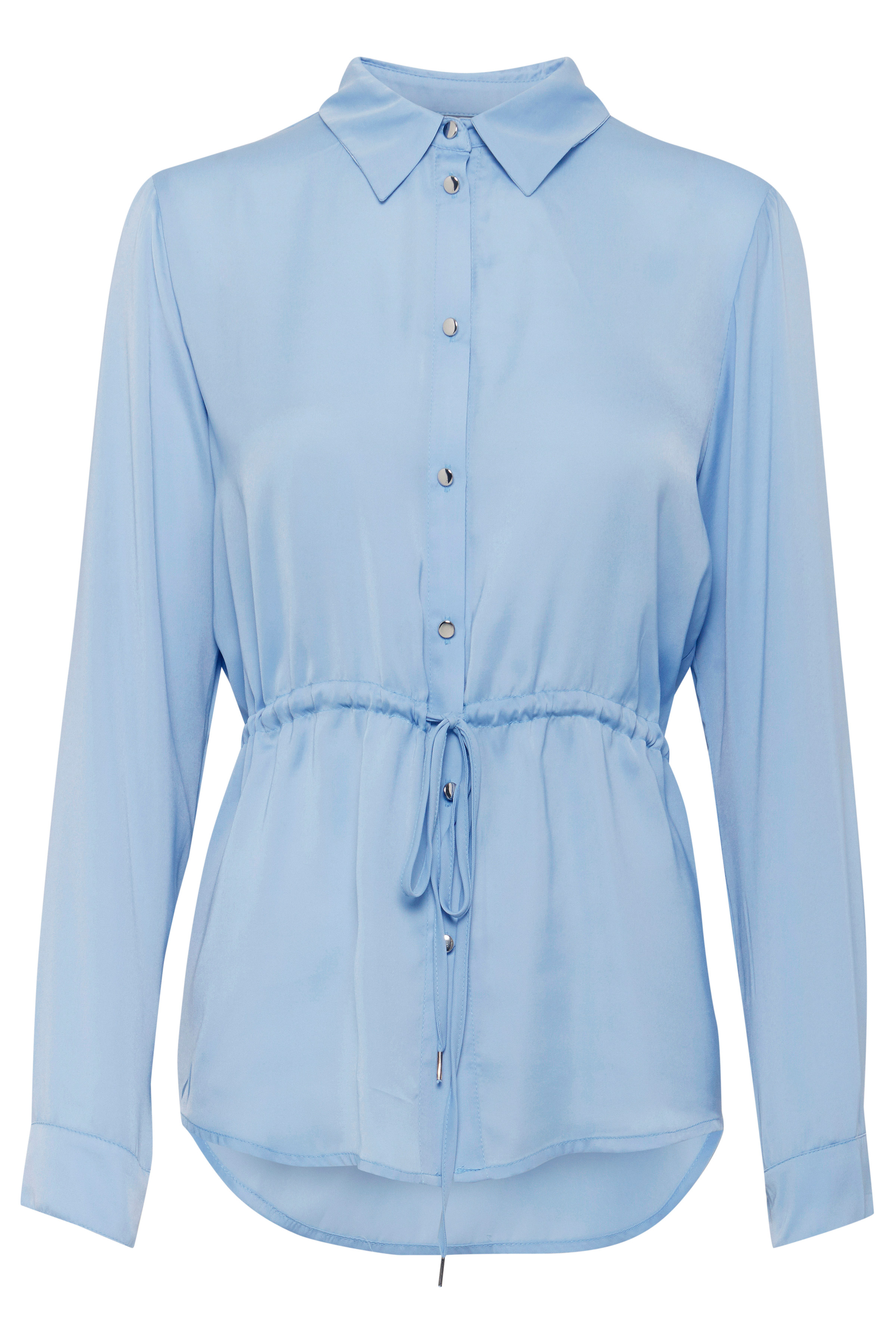 Sky Blue Langærmet skjorte fra b.young – Køb Sky Blue Langærmet skjorte fra str. 36-46 her