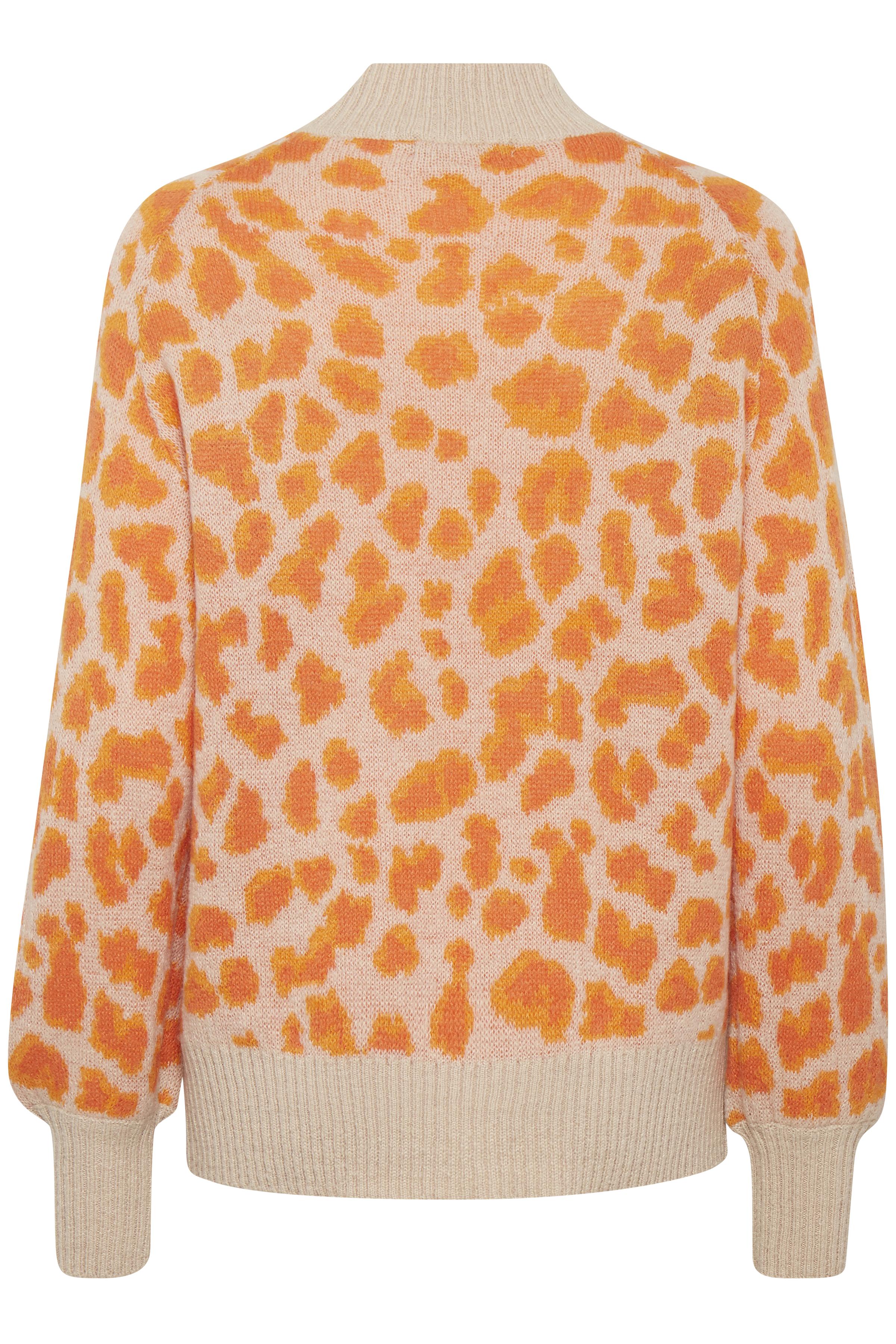 Sun Orange Combi Strickpullover von b.young – Kaufen Sie Sun Orange Combi Strickpullover aus Größe XS-XXL hier