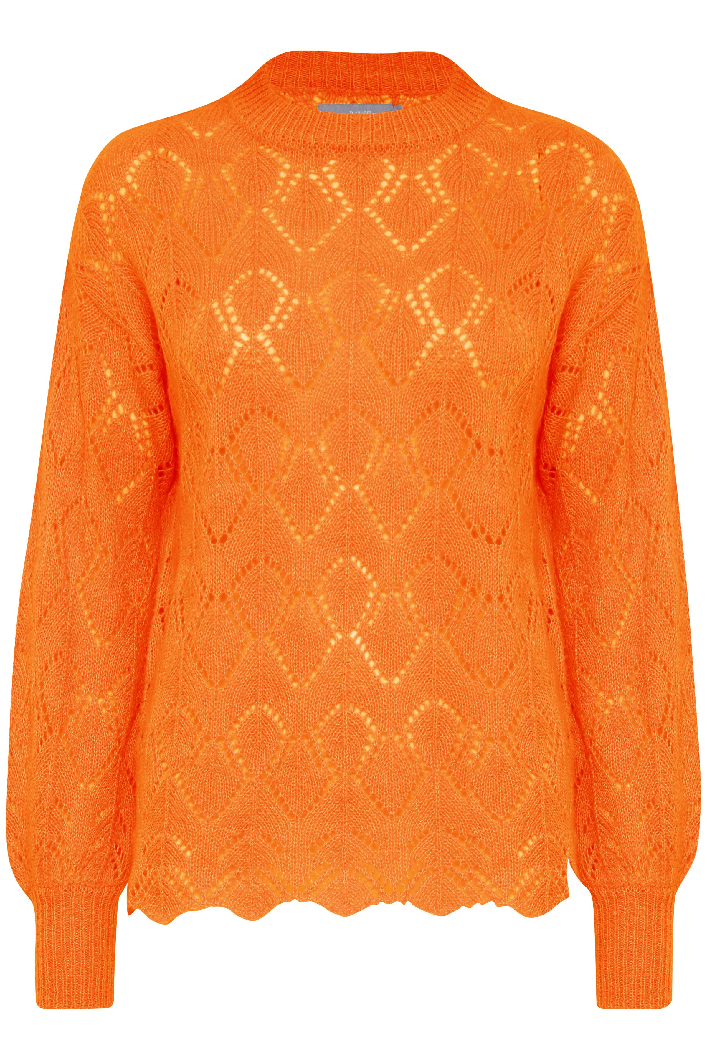 Sun Orange Mel. Knitted pullover from b.young – Buy Sun Orange Mel. Knitted pullover from size XS-XXL here