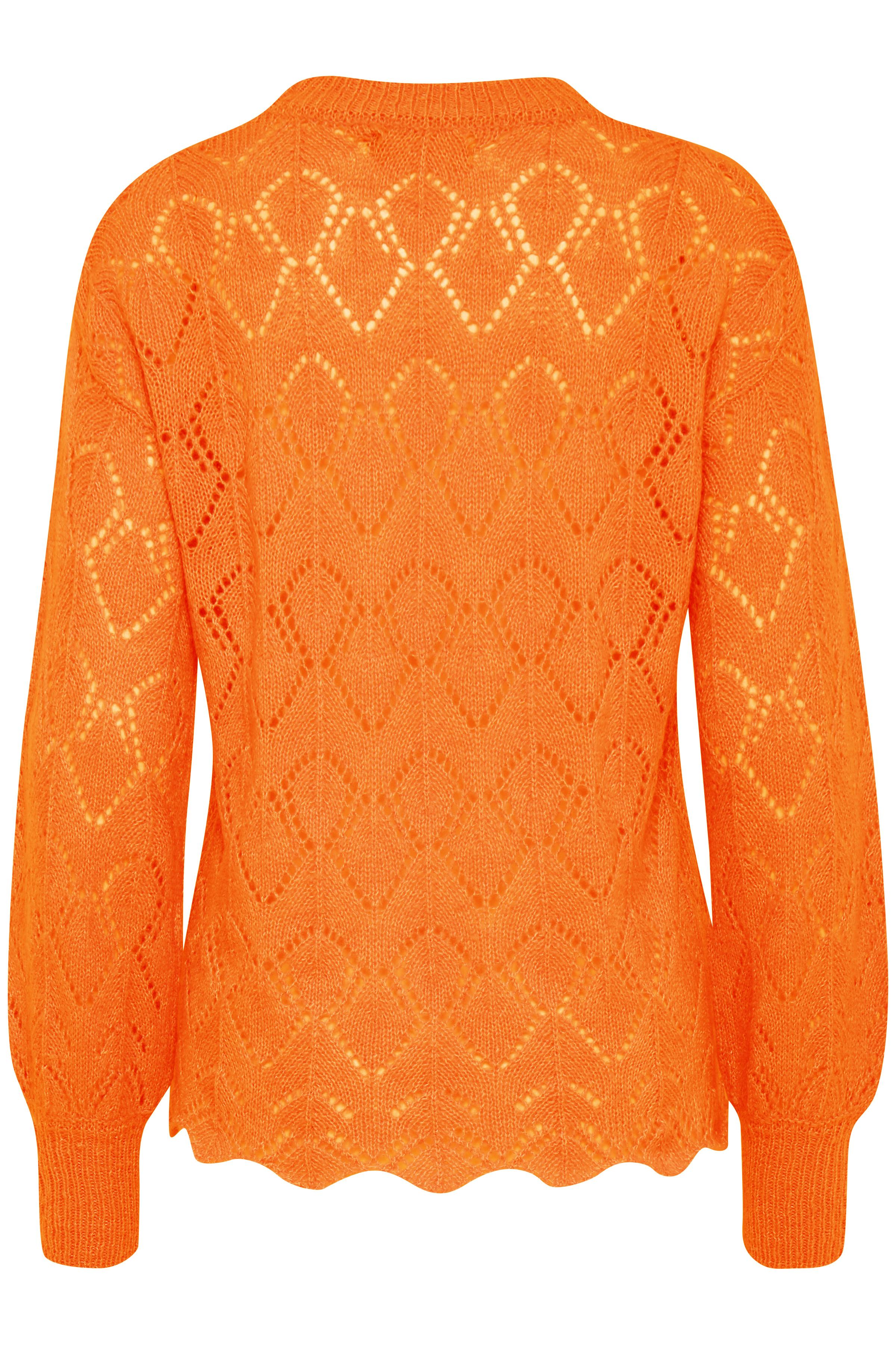Sun Orange Mel. Stickad pullover från b.young – Köp Sun Orange Mel. Stickad pullover från storlek XS-XXL här