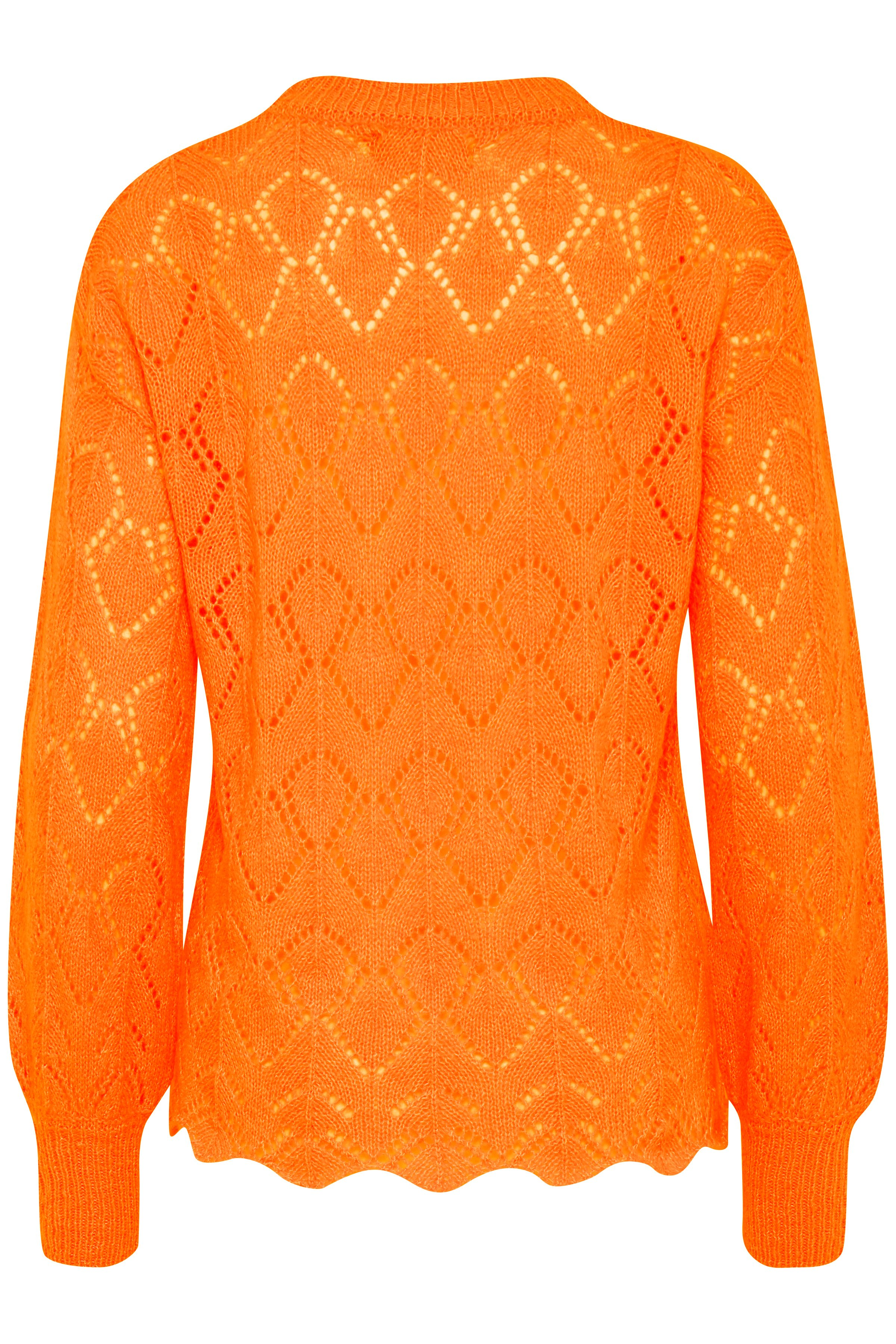 Sun Orange Mel. Strikpullover fra b.young – Køb Sun Orange Mel. Strikpullover fra str. XS-XXL her