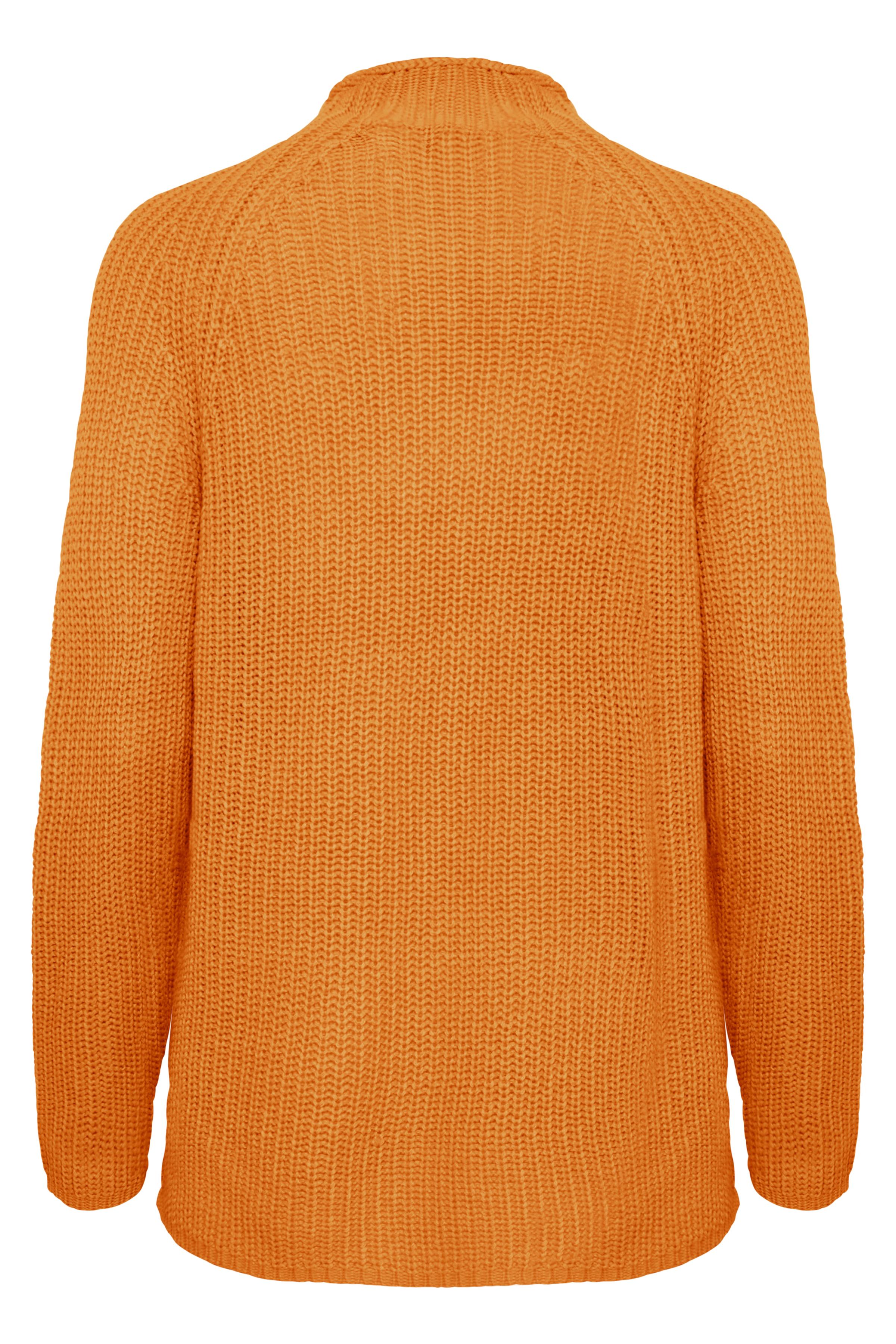 Sun Orange Strikpullover fra b.young – Køb Sun Orange Strikpullover fra str. XS-XXL her