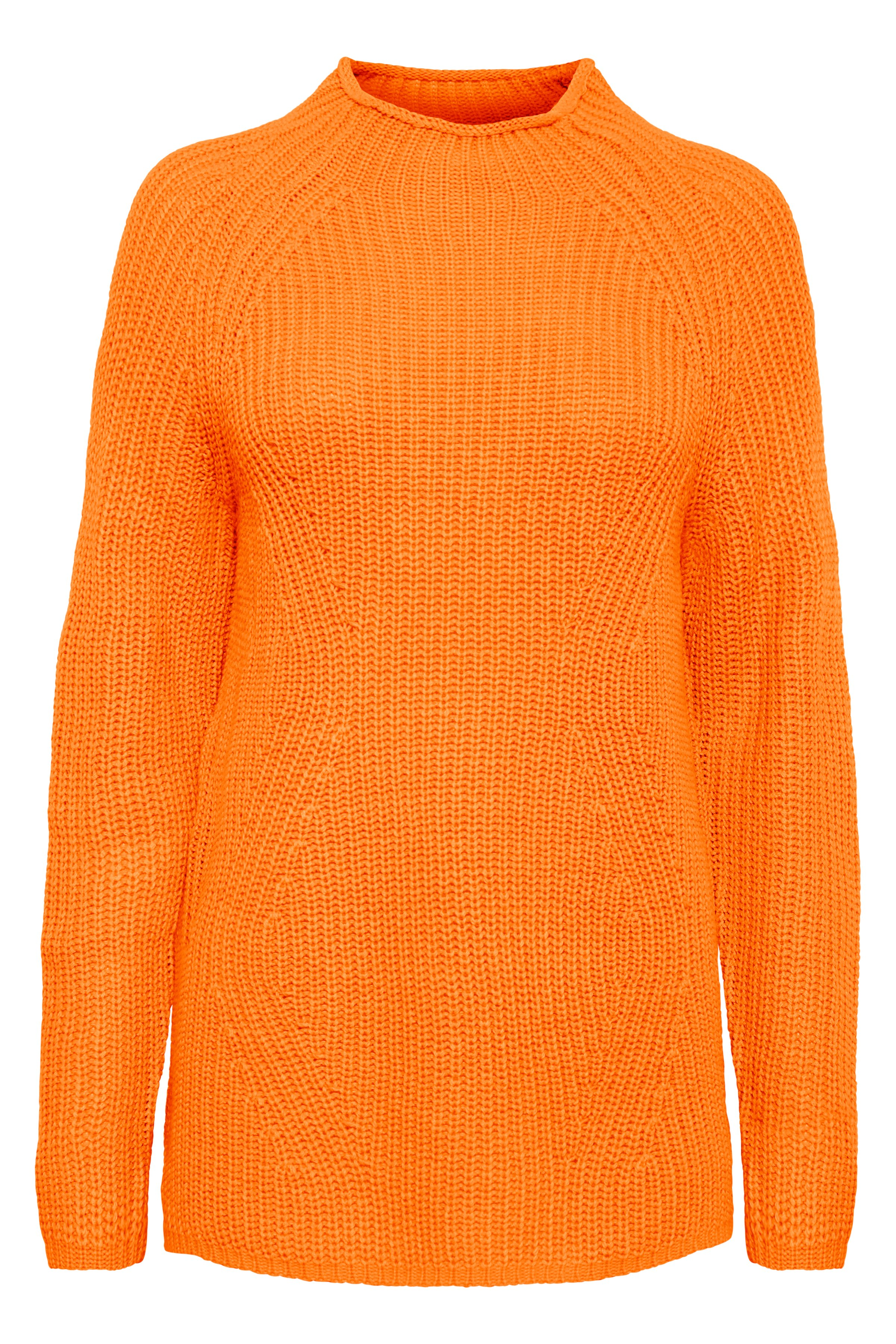 Sun Orange Strikpullover fra b.young – Køb Sun Orange Strikpullover fra str. XS-XXL her