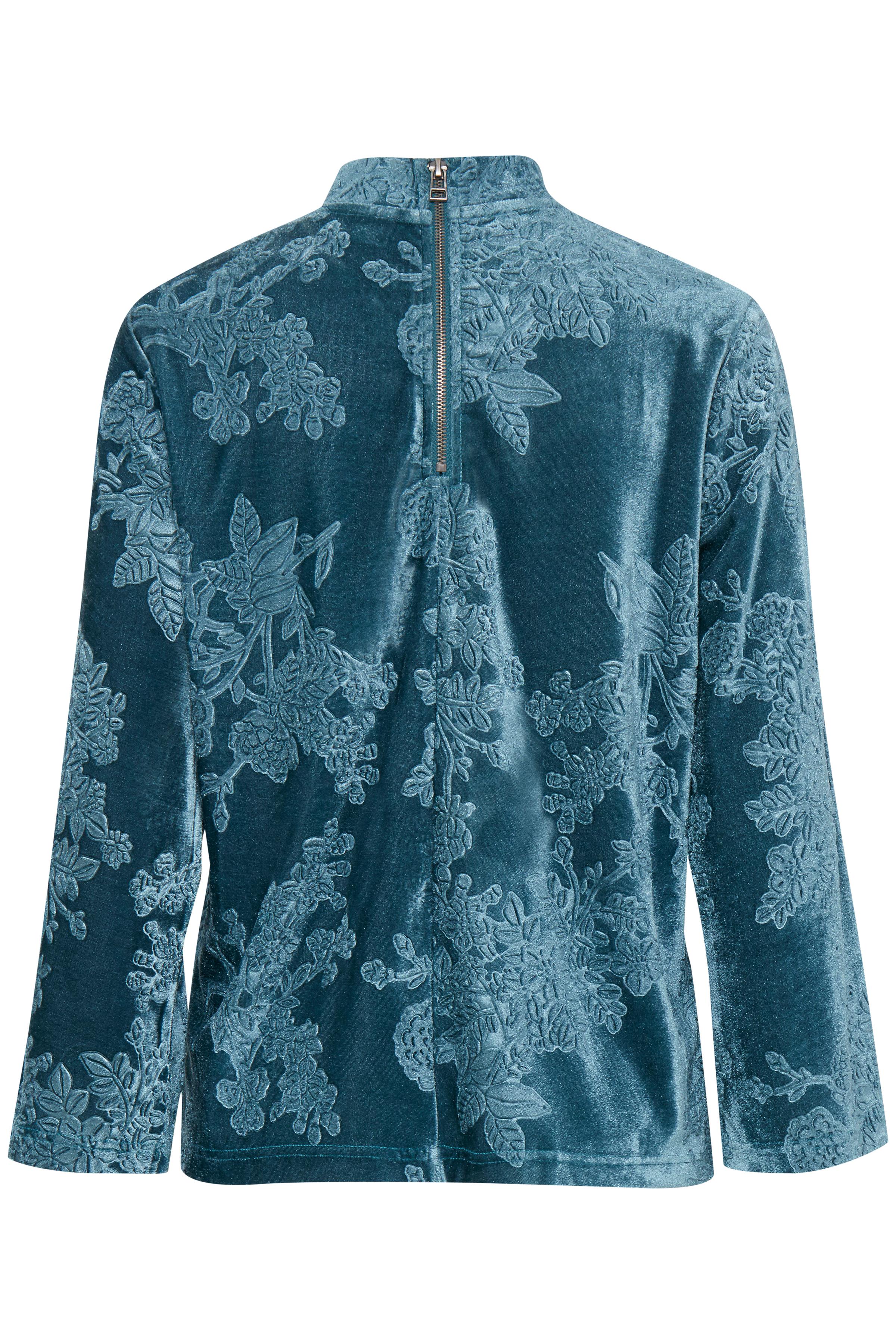 Teal Langærmet bluse fra b.young – Køb Teal Langærmet bluse fra str. XS-XXL her