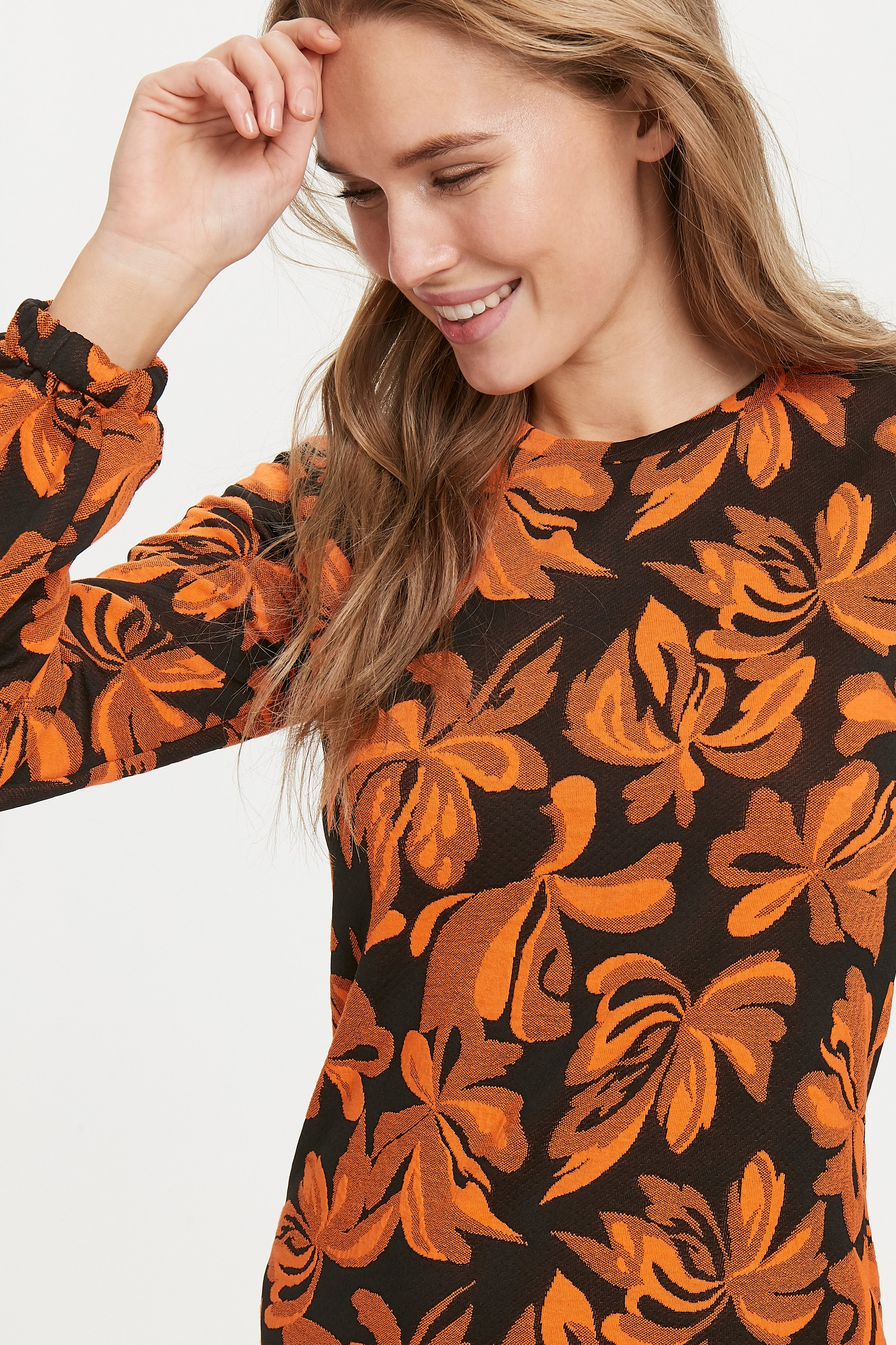 Tulip orange combi 1 Jerseykjole fra b.young – Køb Tulip orange combi 1 Jerseykjole fra str. XS-XL her
