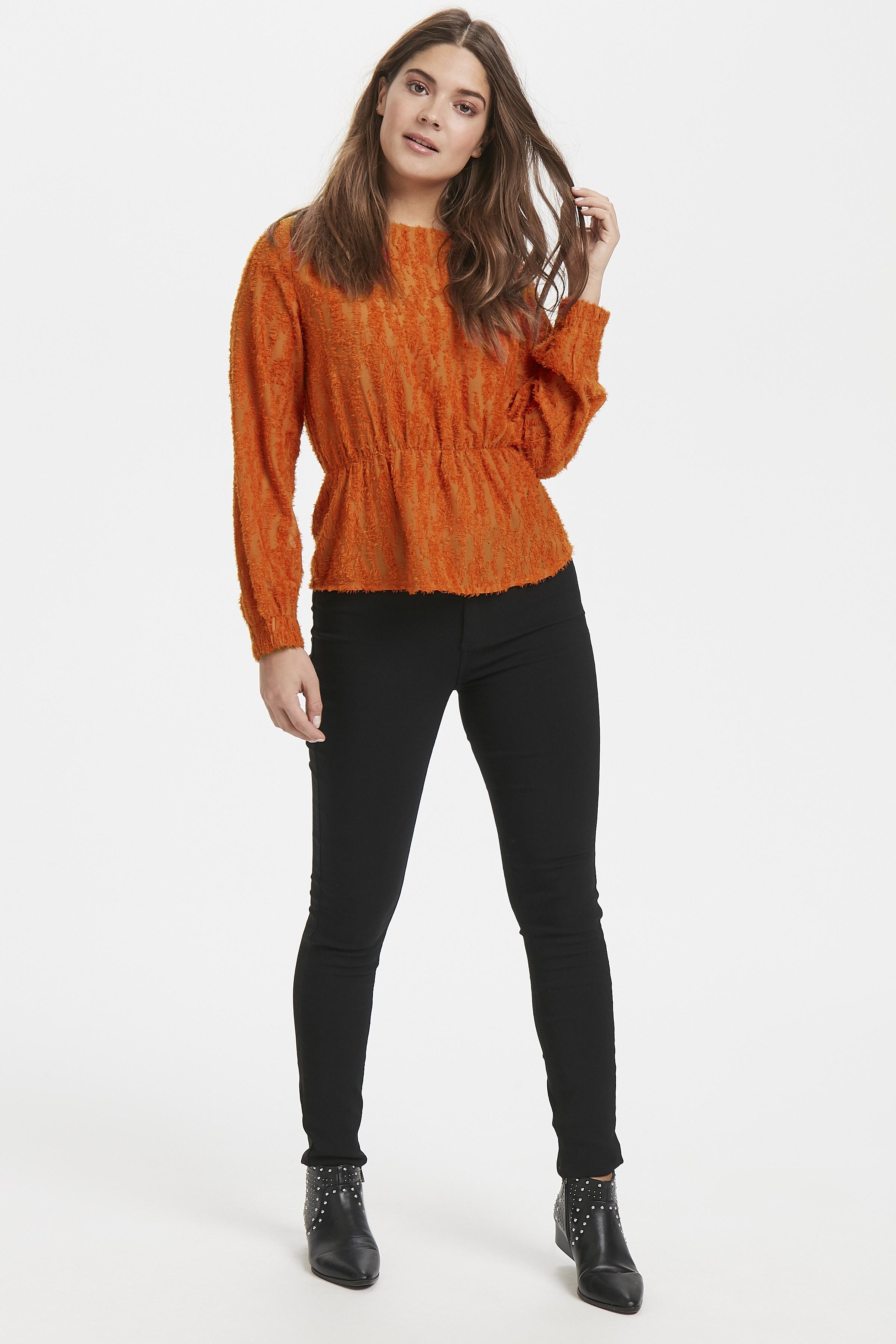 Tulip Orange Langærmet bluse fra b.young – Køb Tulip Orange Langærmet bluse fra str. 34-42 her