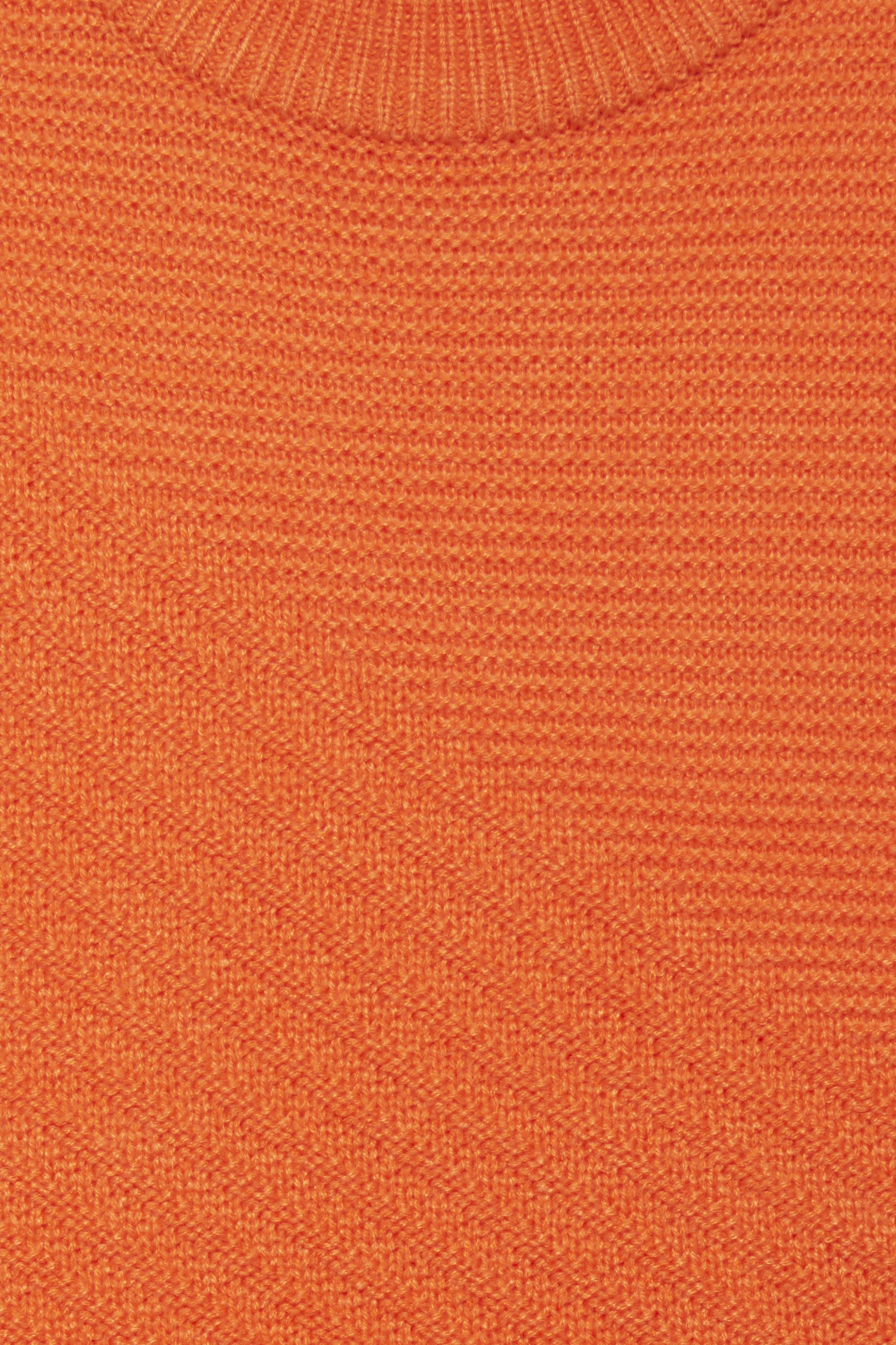 Tulip Orange Strikpullover fra b.young – Køb Tulip Orange Strikpullover fra str. S-XXL her
