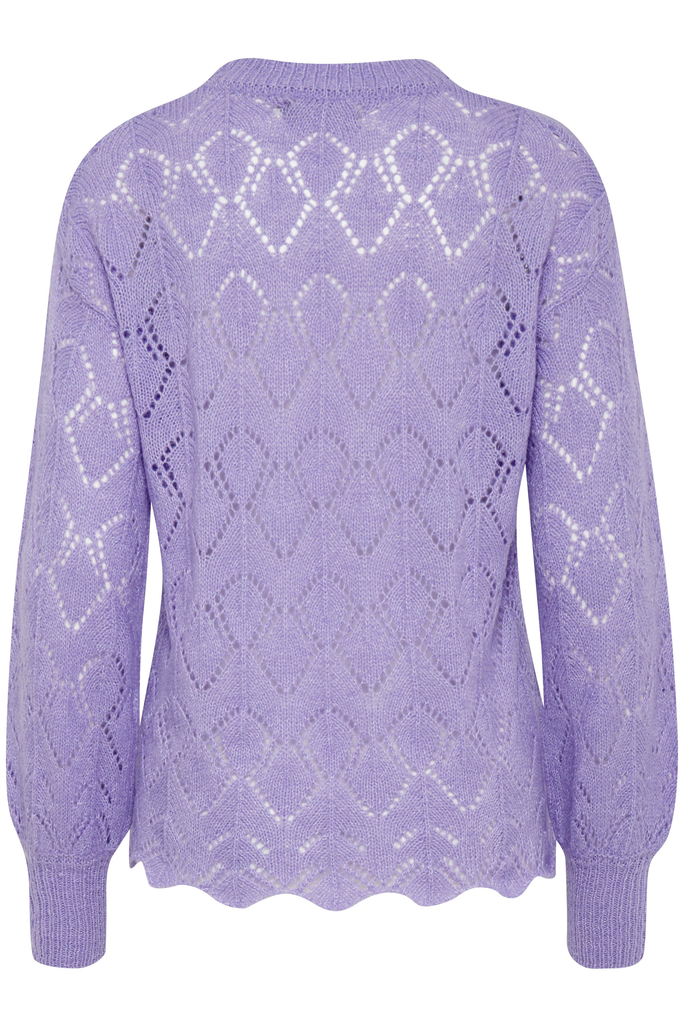 Violet Tulip Mel. Stickad pullover från b.young – Köp Violet Tulip Mel. Stickad pullover från storlek XS-XXL här