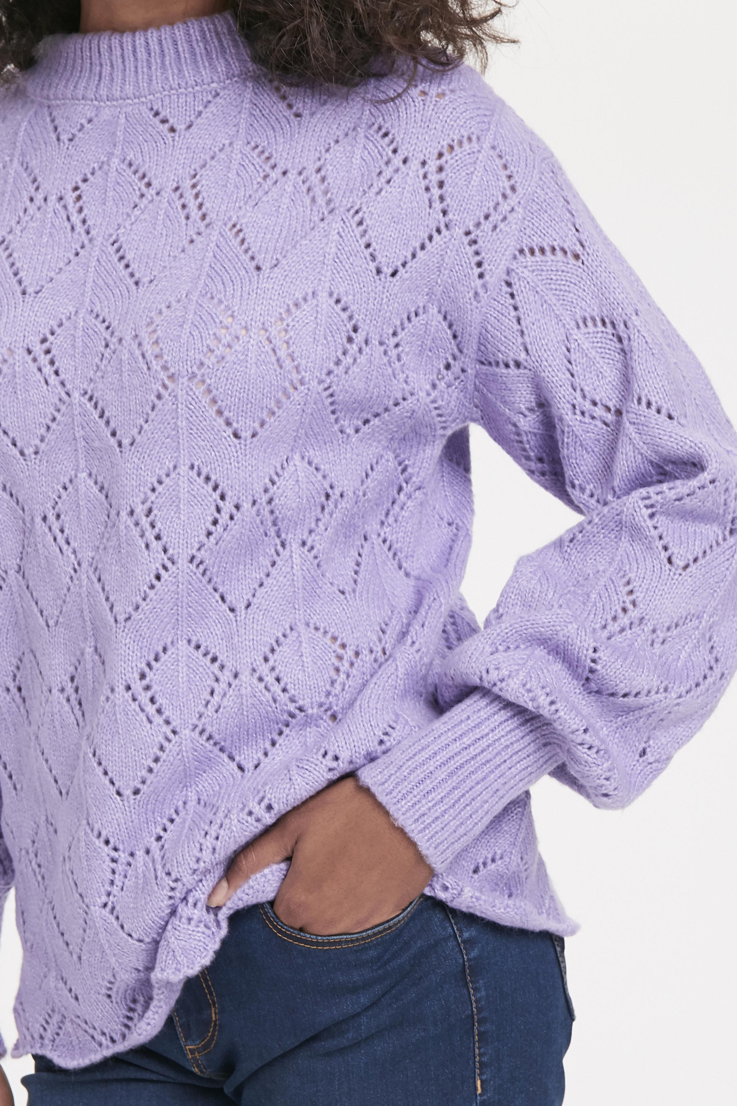Violet Tulip Mel. Strikket pullover fra b.young - Kjøp Violet Tulip Mel. Strikket pullover fra størrelse XS-XXL her