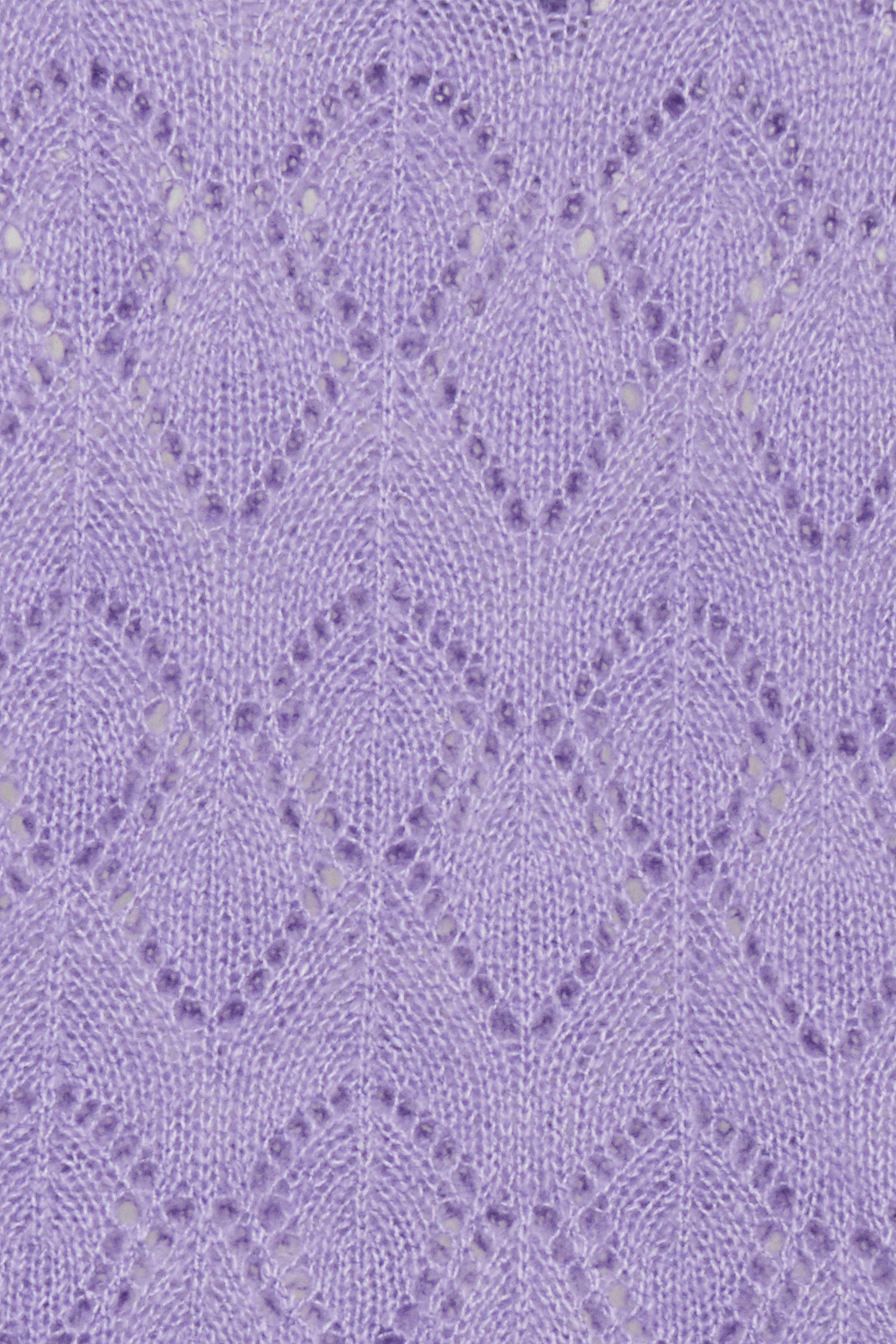 Violet Tulip Mel. Strikpullover fra b.young – Køb Violet Tulip Mel. Strikpullover fra str. XS-XXL her