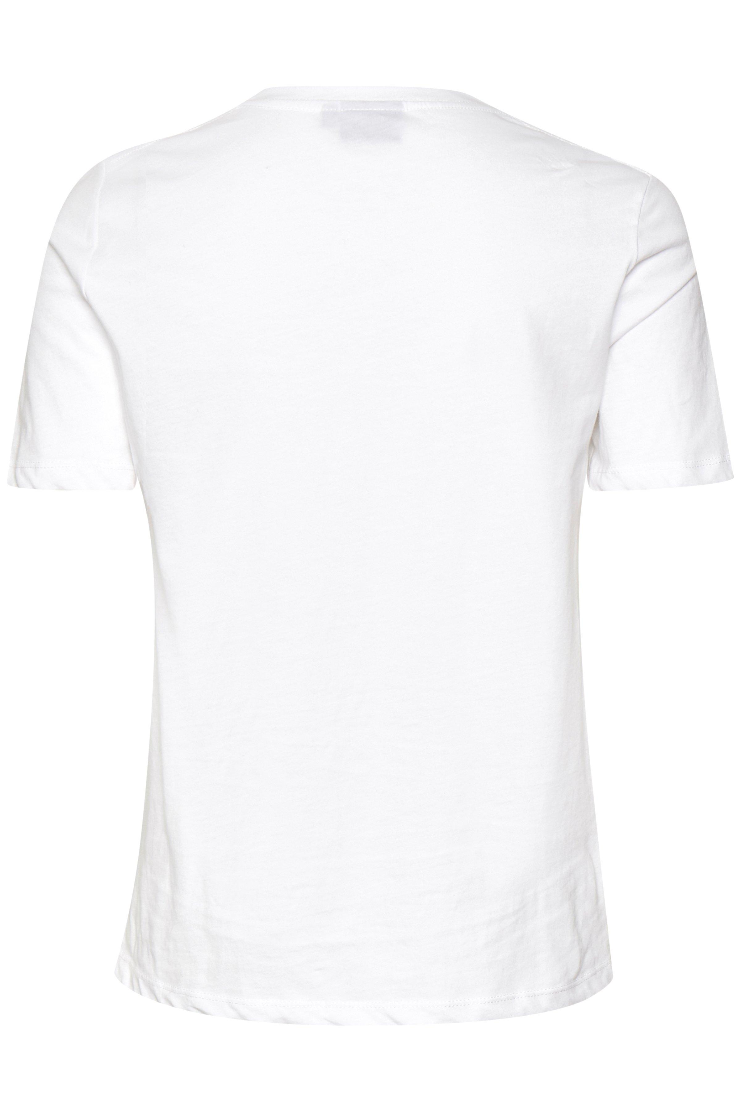 Vit/röd T-shirt från b.young – Köp Vit/röd T-shirt från storlek XS-XXL här