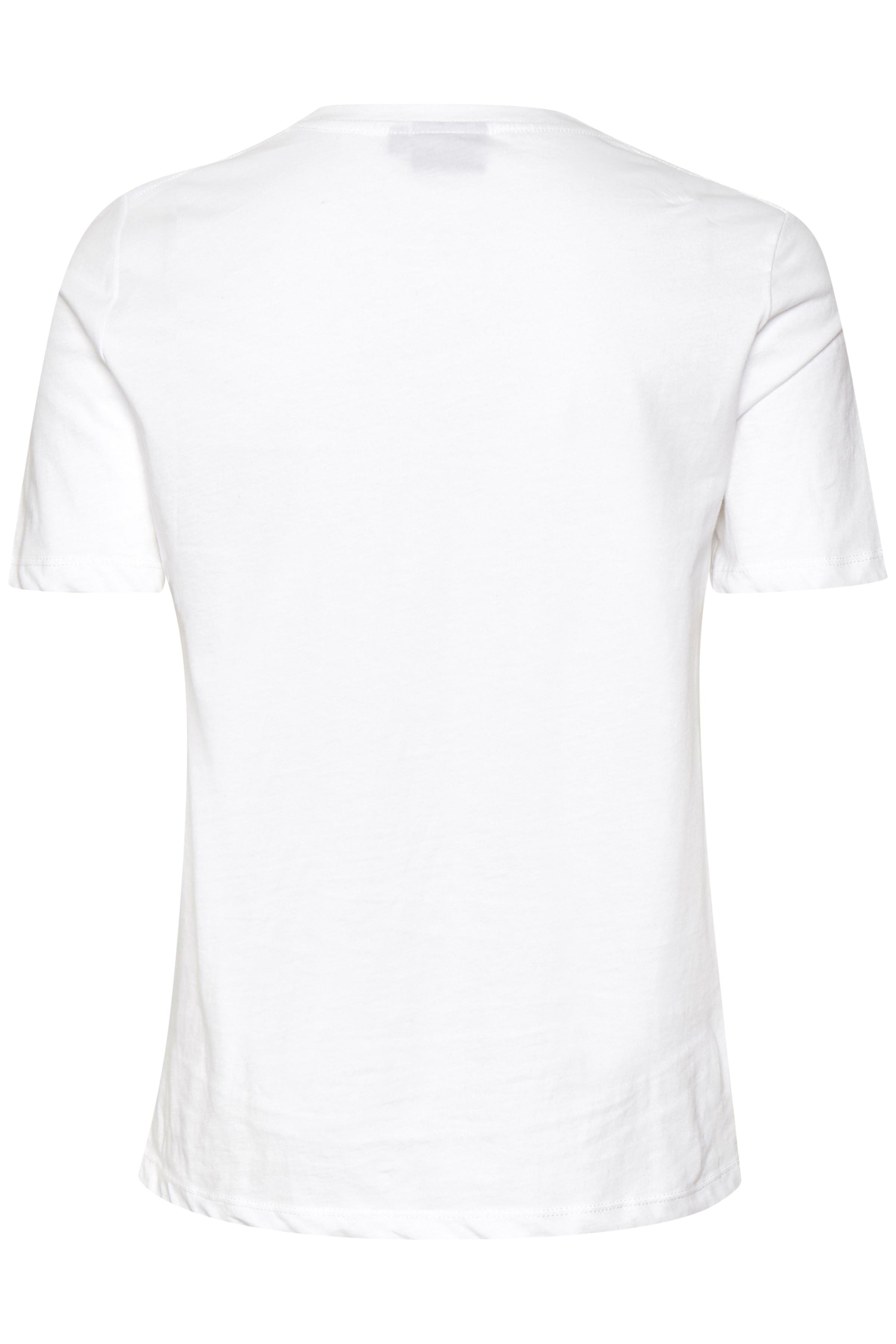 Weiß/rot T-shirt von b.young – Kaufen Sie Weiß/rot T-shirt aus Größe XS-XXL hier