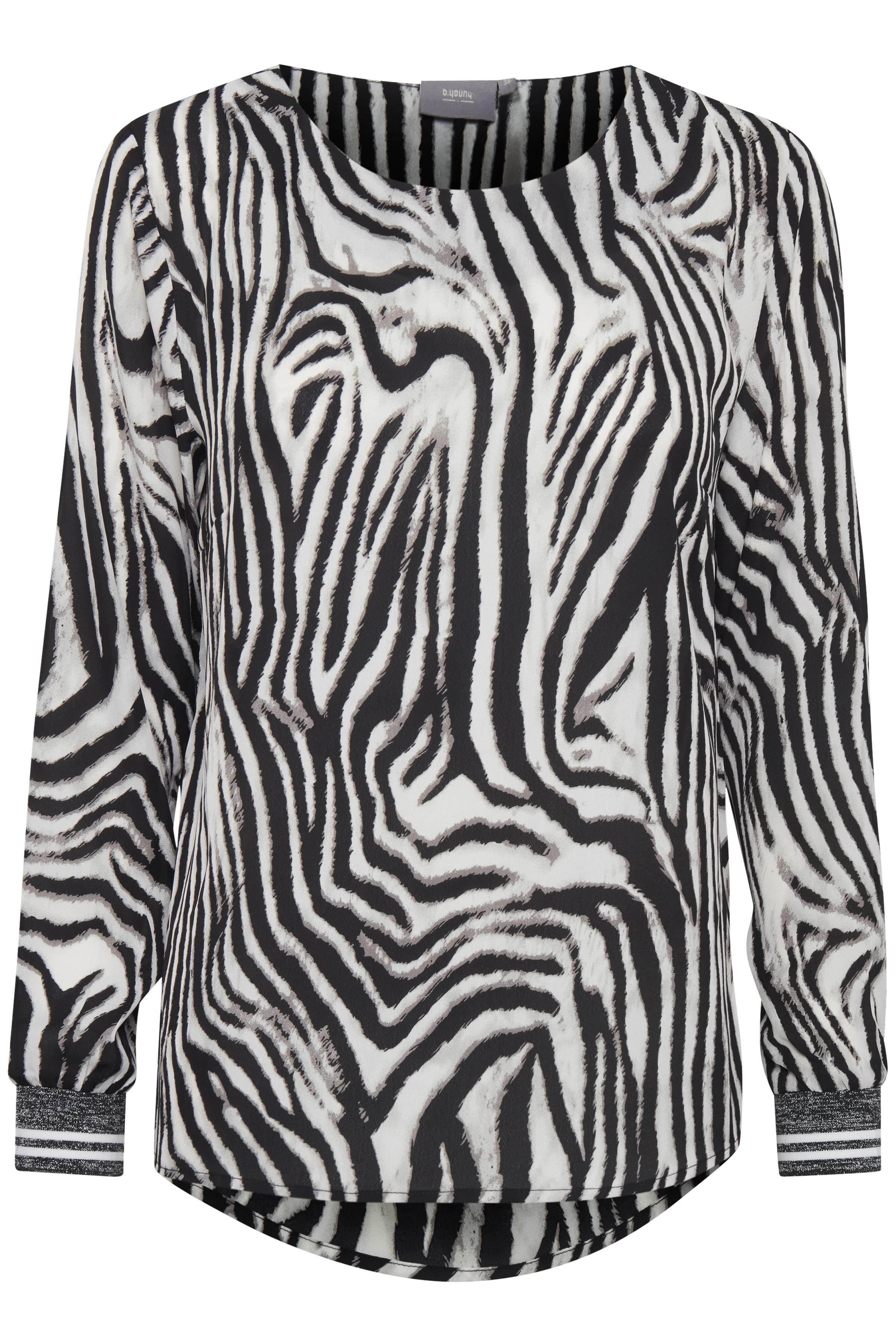 Zebra combi 1 Langærmet bluse fra b.young – Køb Zebra combi 1 Langærmet bluse fra str. 34-42 her